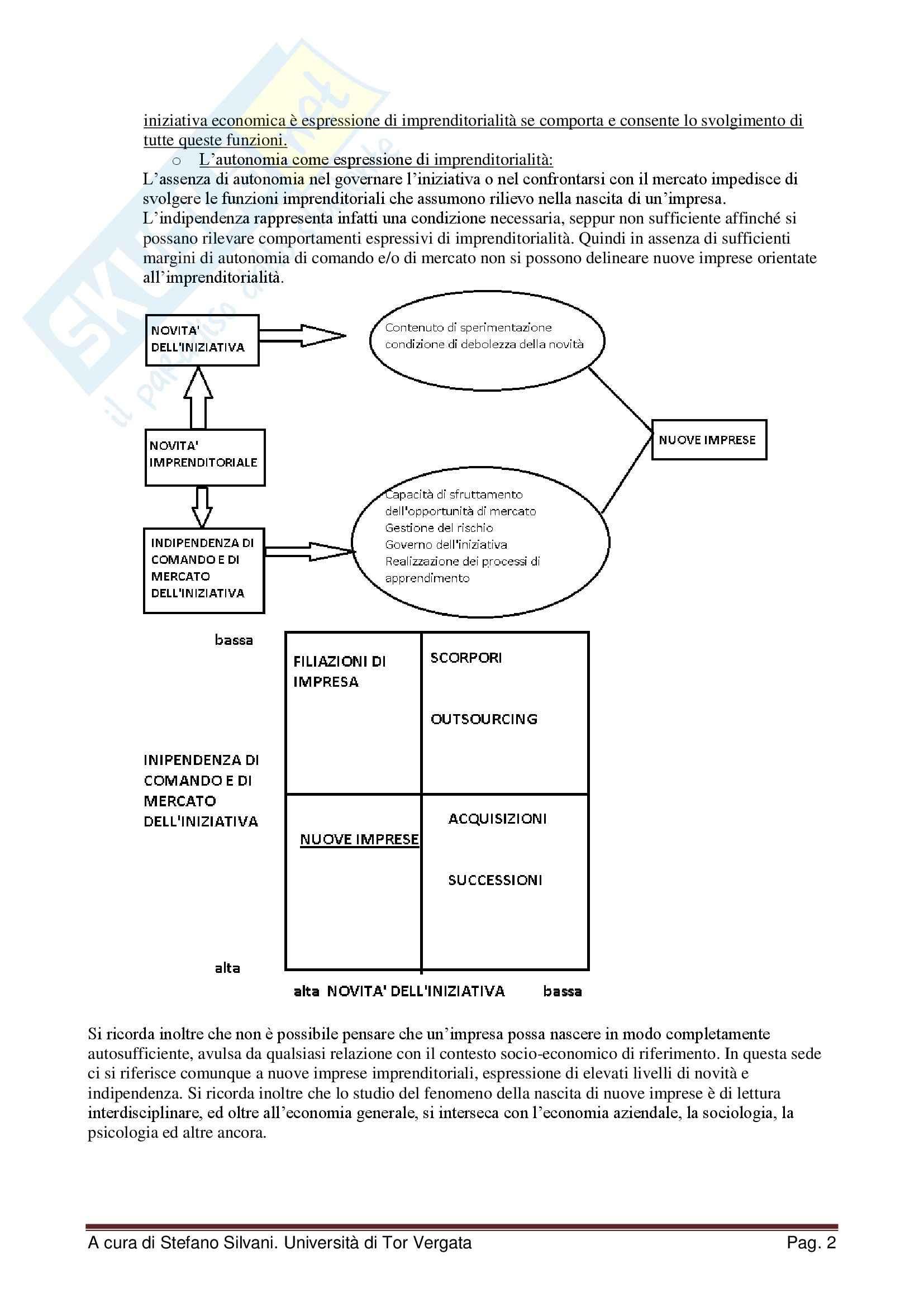 Riassunto esame Creazione d'impresa e imprenditorialità minore, prof. Scafarto, libro consigliato Le nuove imprese, Sorrentino Pag. 2