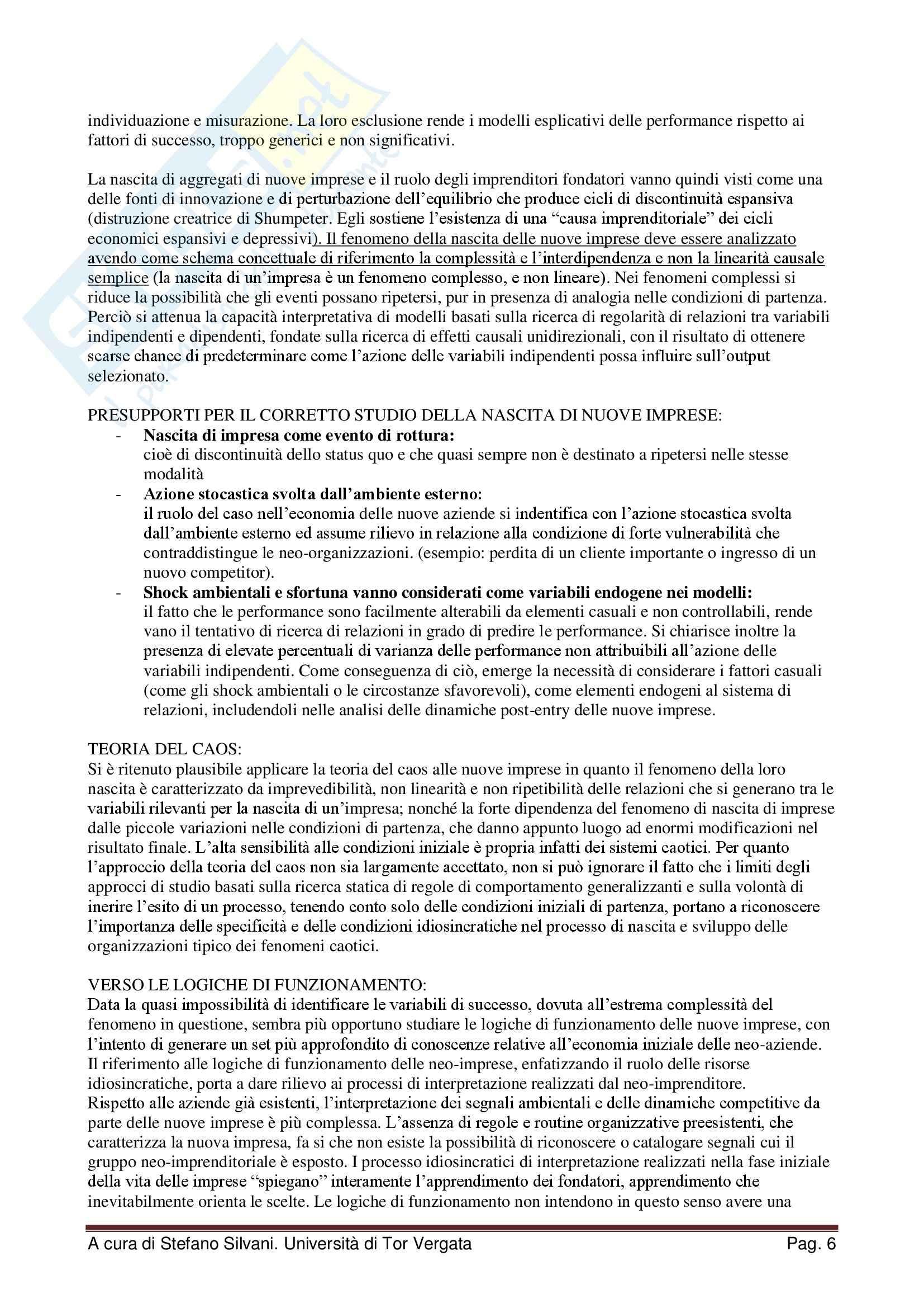 Riassunto esame Creazione d'impresa e imprenditorialità minore, prof. Scafarto, libro consigliato Le nuove imprese, Sorrentino Pag. 6