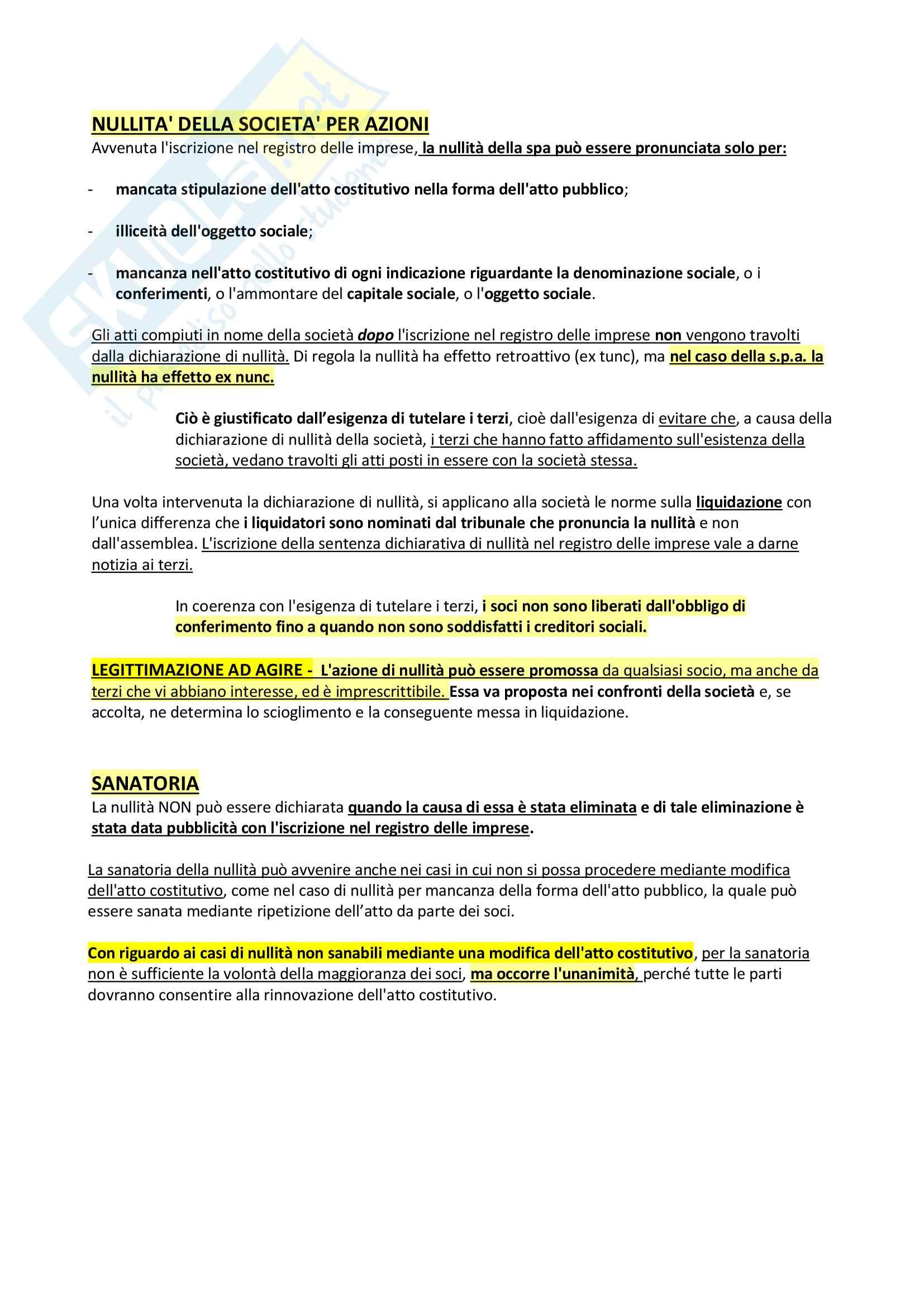 Riassunto + appunti di diritto delle società Pag. 11