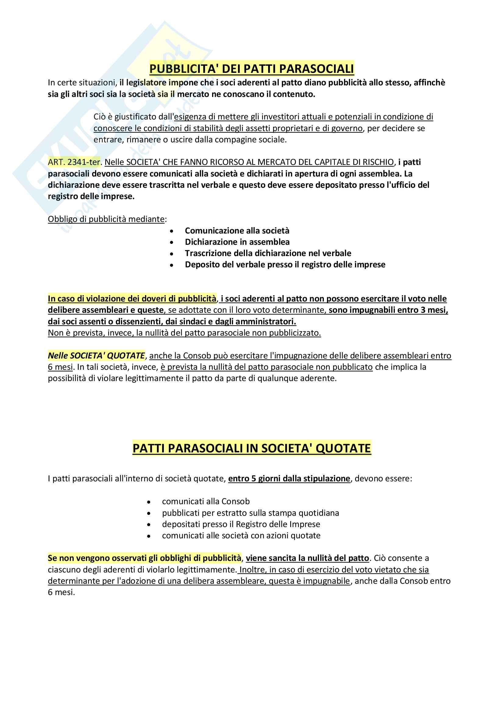 Riassunto + appunti di diritto delle società Pag. 16