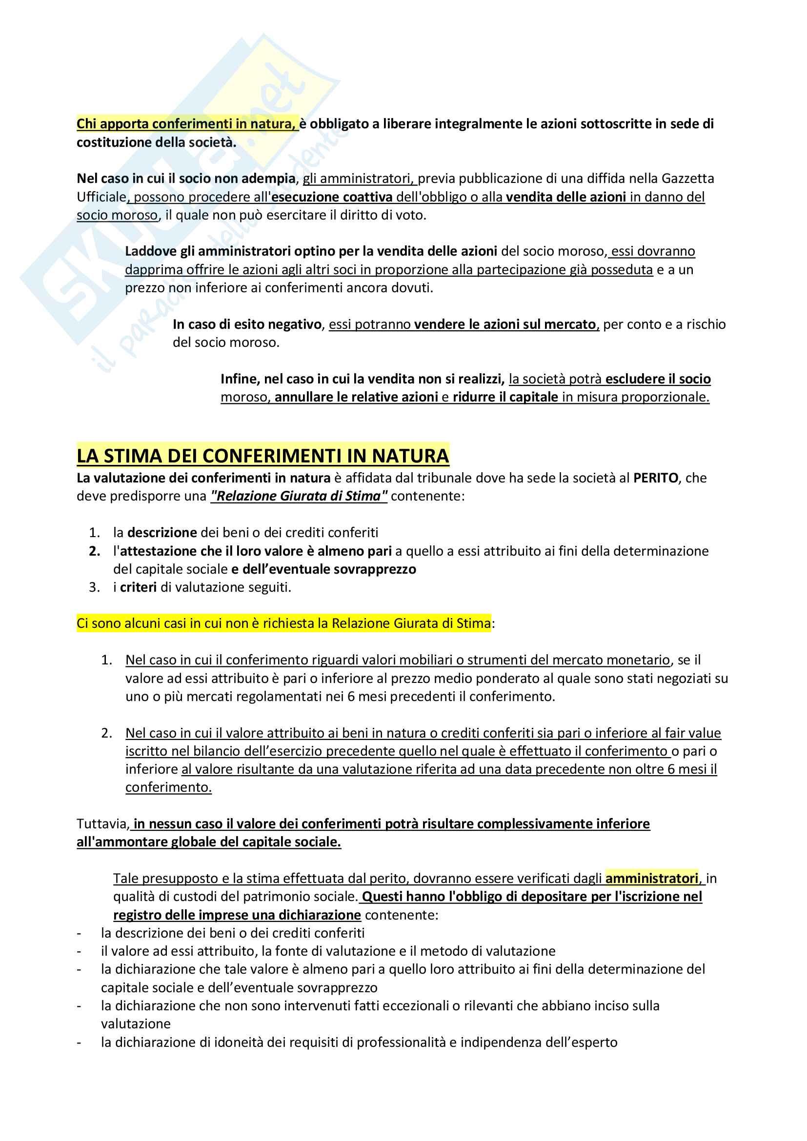 Riassunto + appunti di diritto delle società Pag. 21
