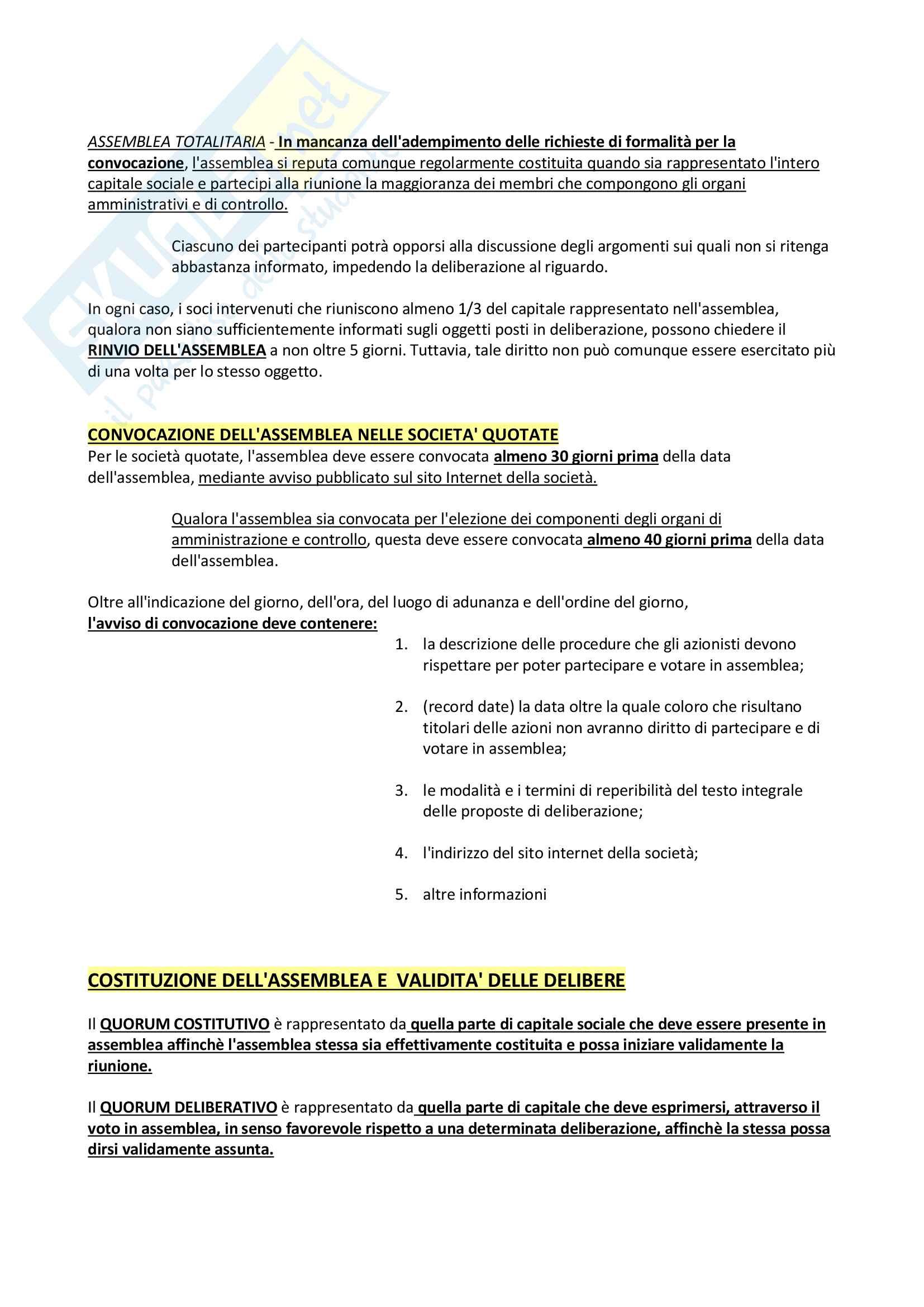 Riassunto + appunti di diritto delle società Pag. 36