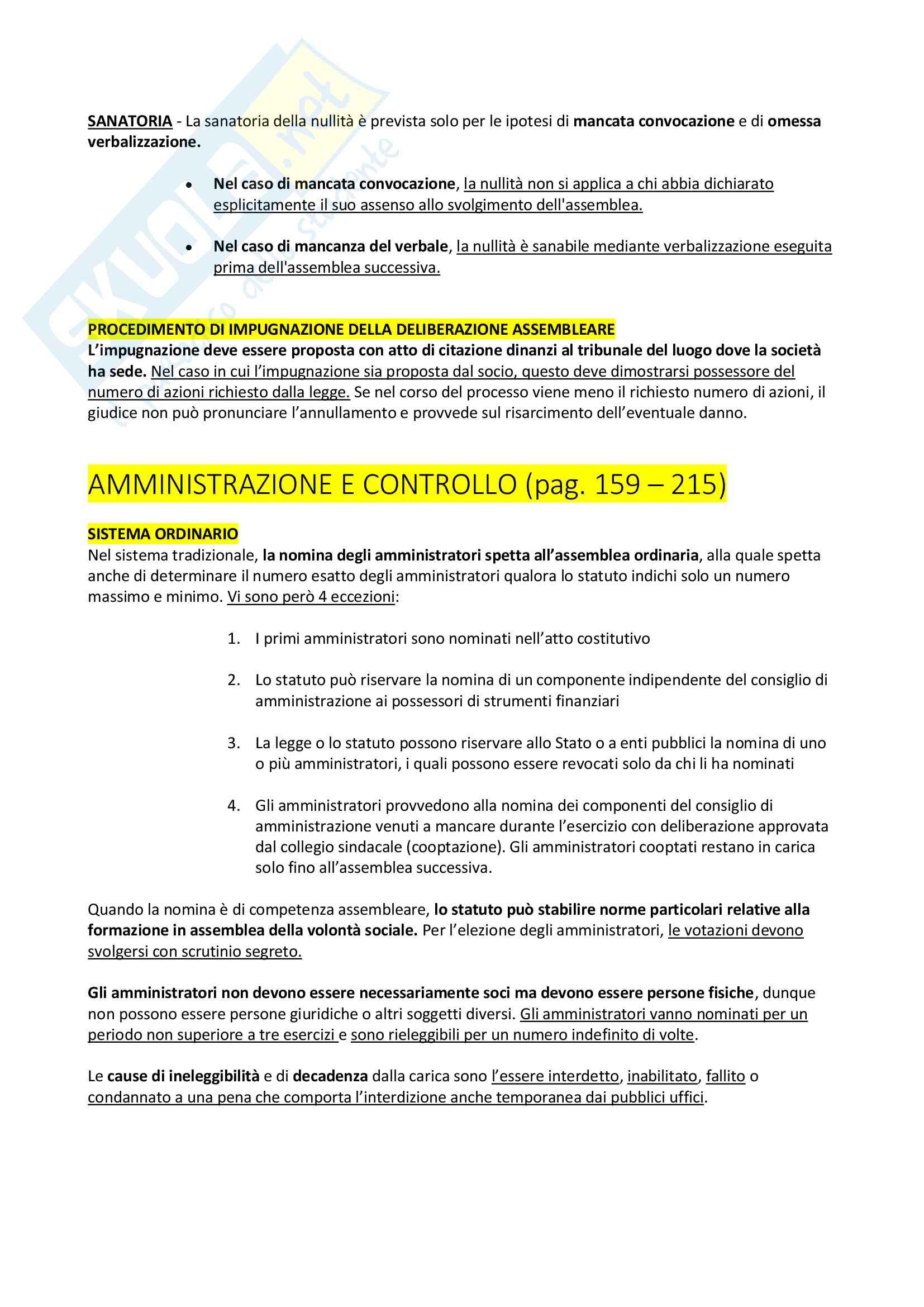 Riassunto + appunti di diritto delle società Pag. 41