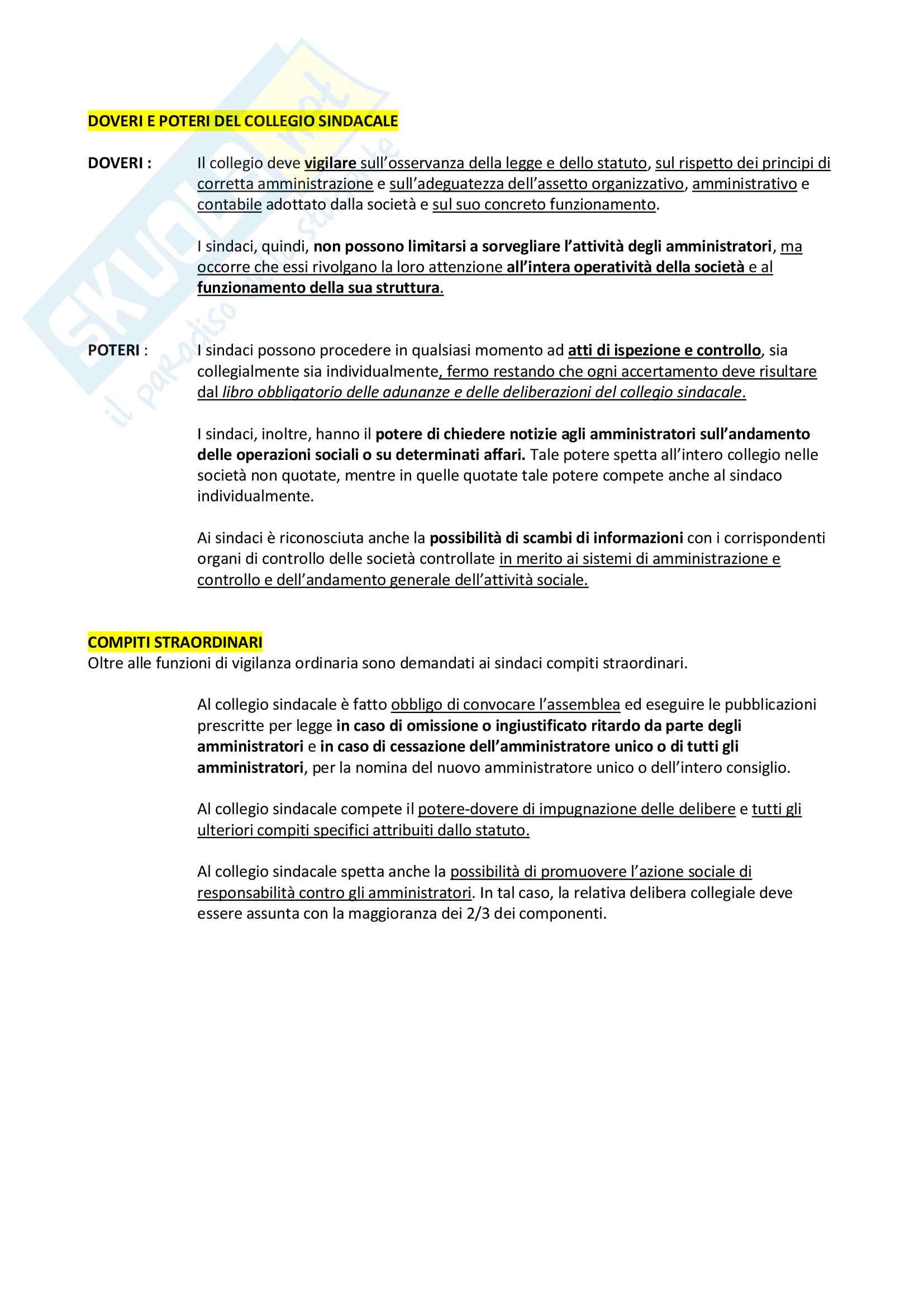 Riassunto + appunti di diritto delle società Pag. 46