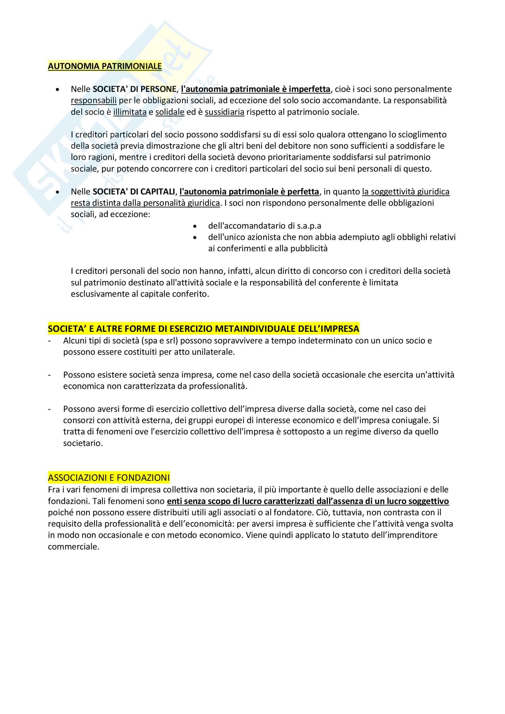 Riassunto + appunti di diritto delle società Pag. 6