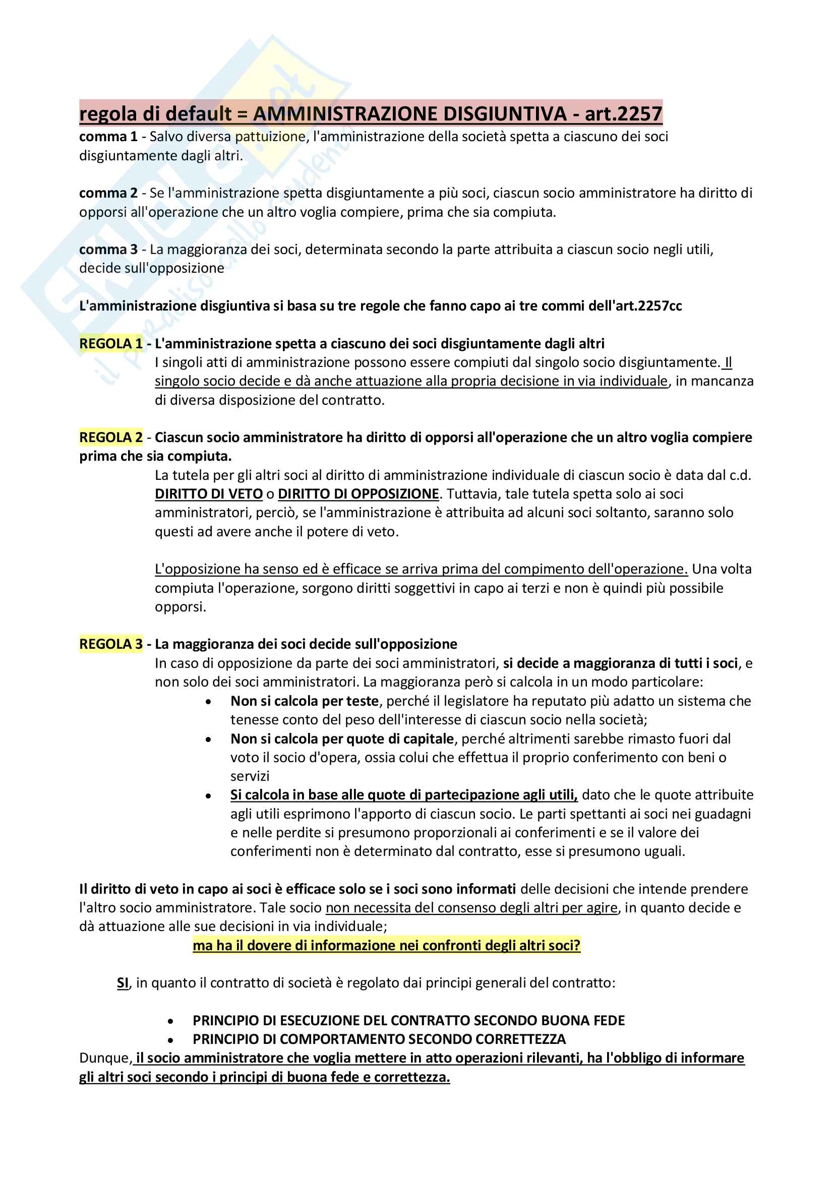 Riassunto + appunti di diritto delle società Pag. 81