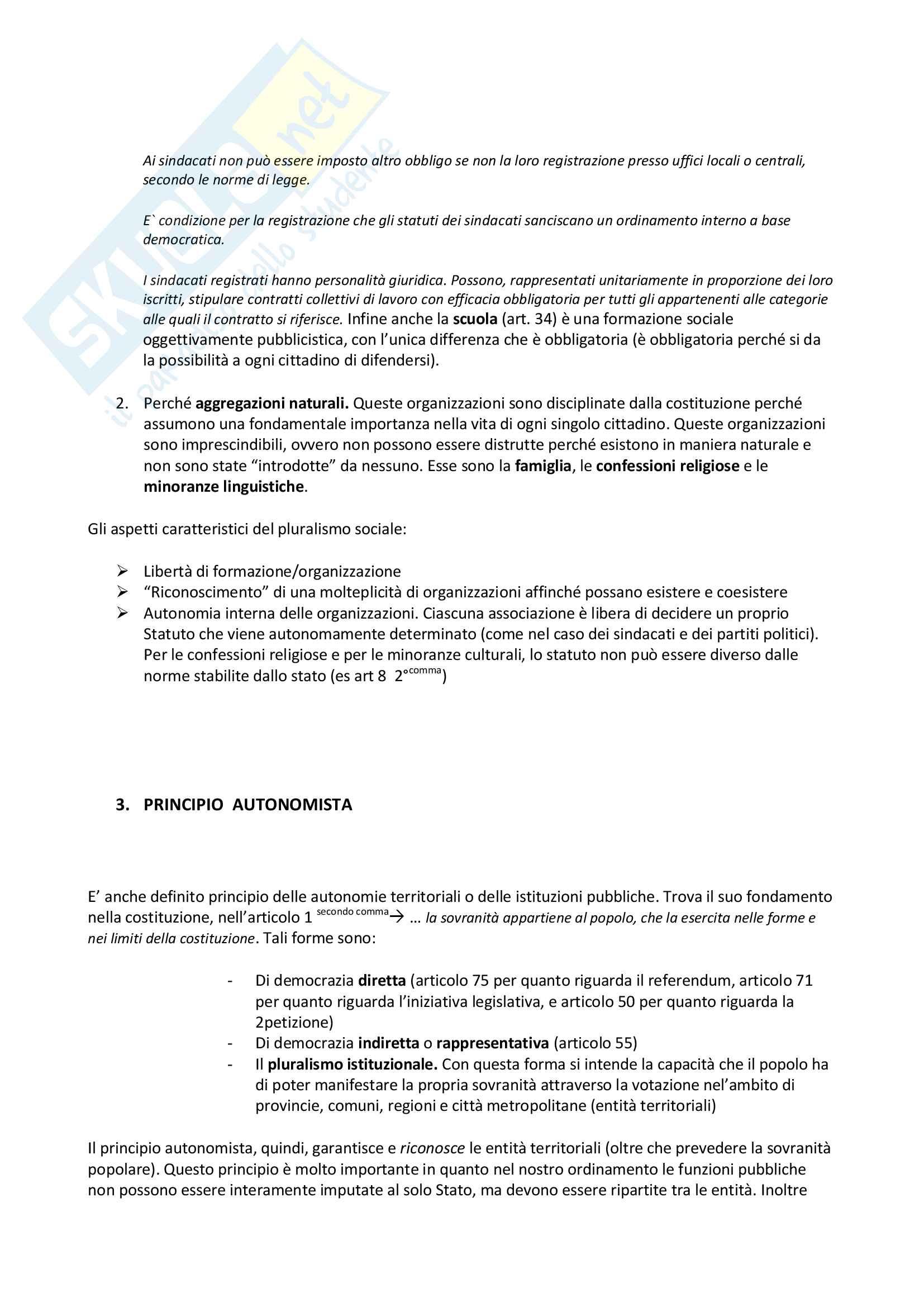 Istituzioni di Diritto Pubblico, prof. Degrassi, appunti lezioni Pag. 11
