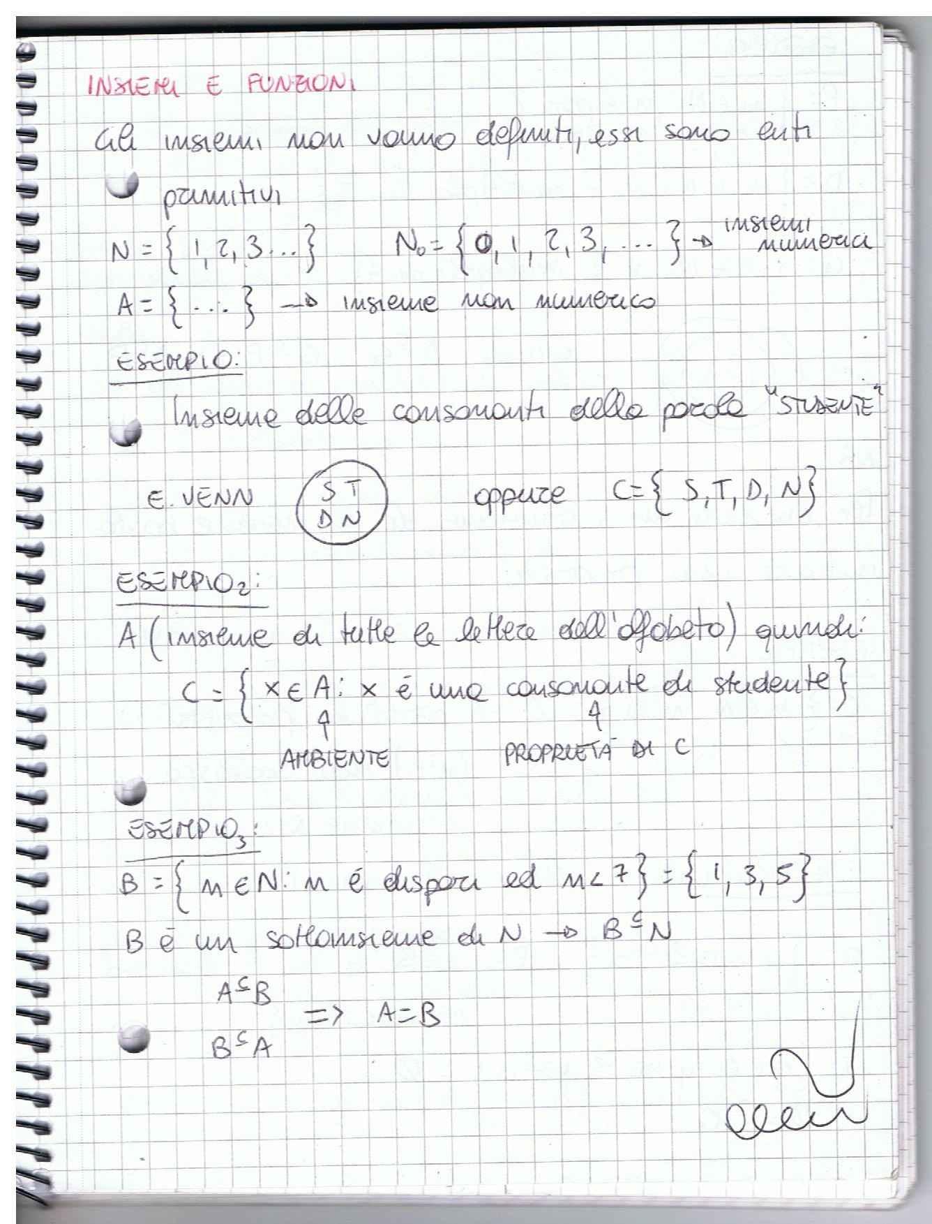 Metodi matematici per l'economia - Appunti