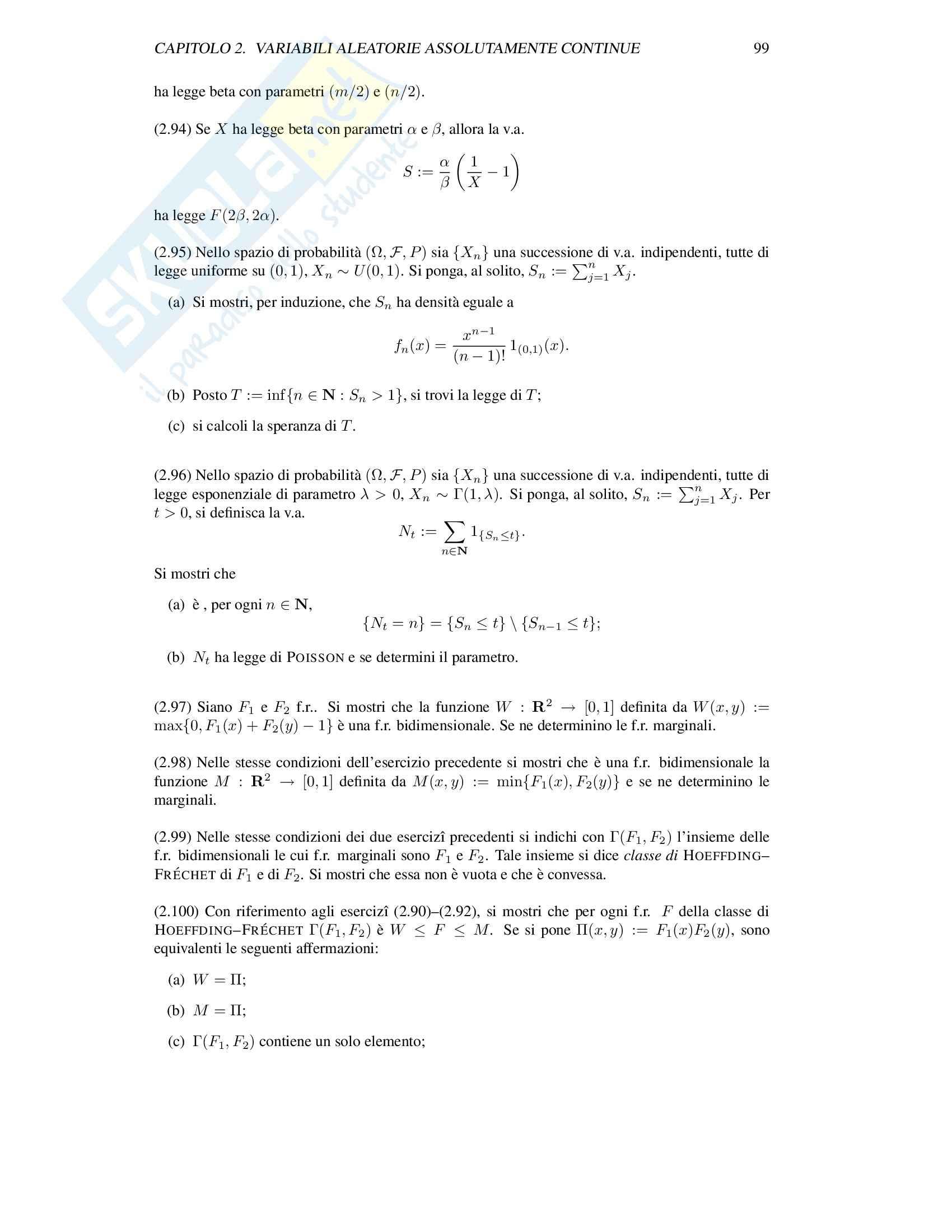 Matematica - Introduzione alla Probabilità Pag. 101