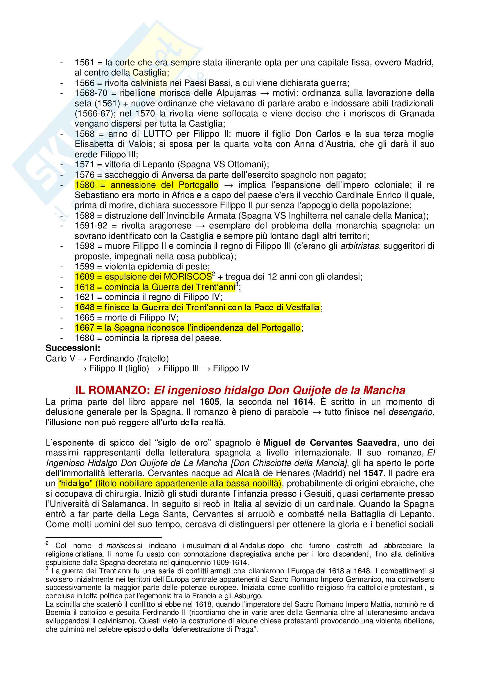 Romanzi: Appunti di Letteratura spagnola Pag. 2