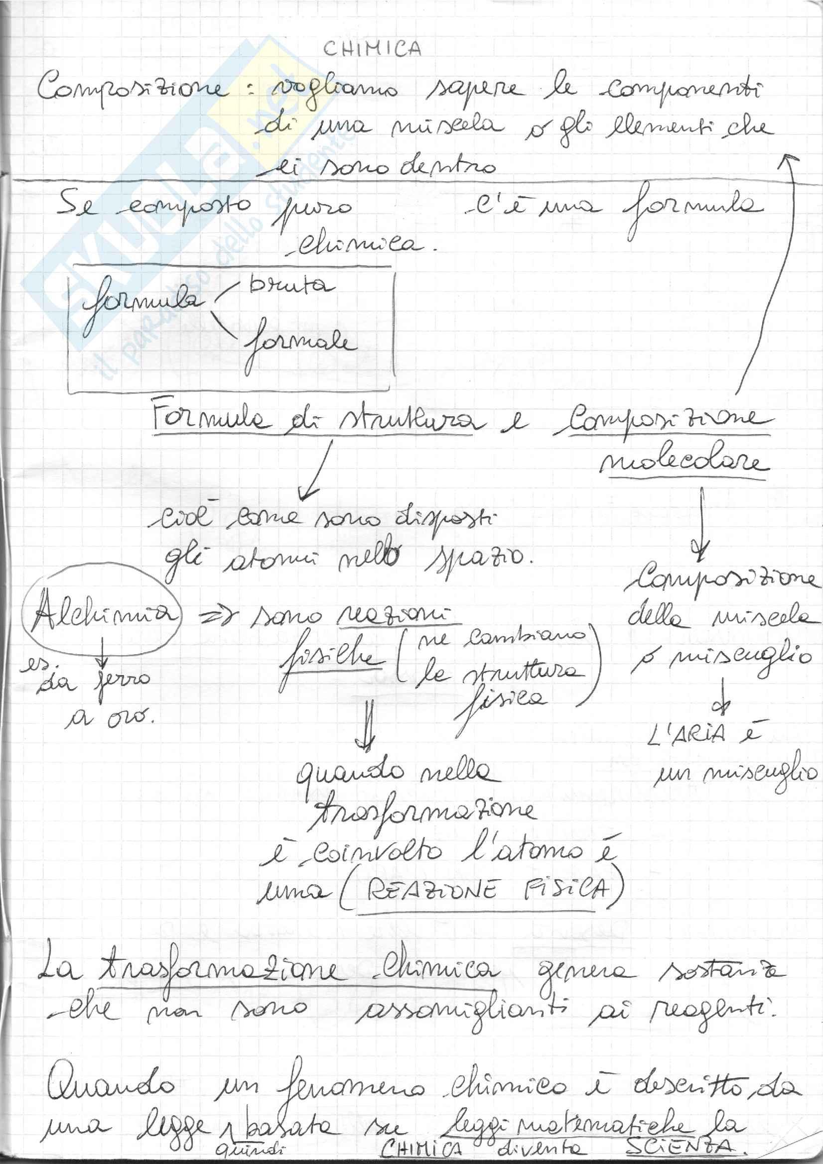 Chimica ( Argomenti iniziali + Esercizi stechiometria)