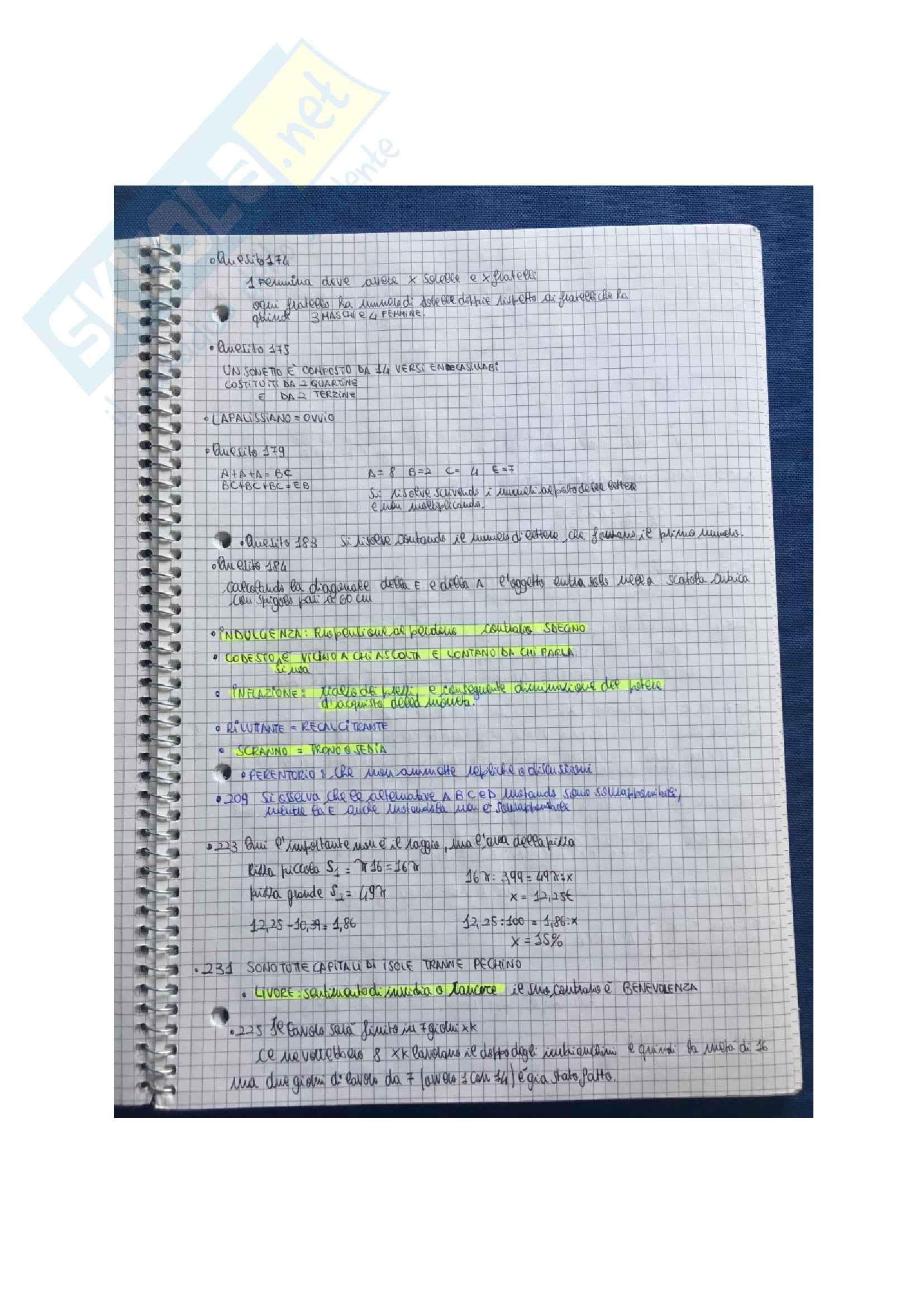Tutti i test di logica Alpha Test con soluzioni per l'accesso alle Professioni Sanitarie e Medicina Pag. 21