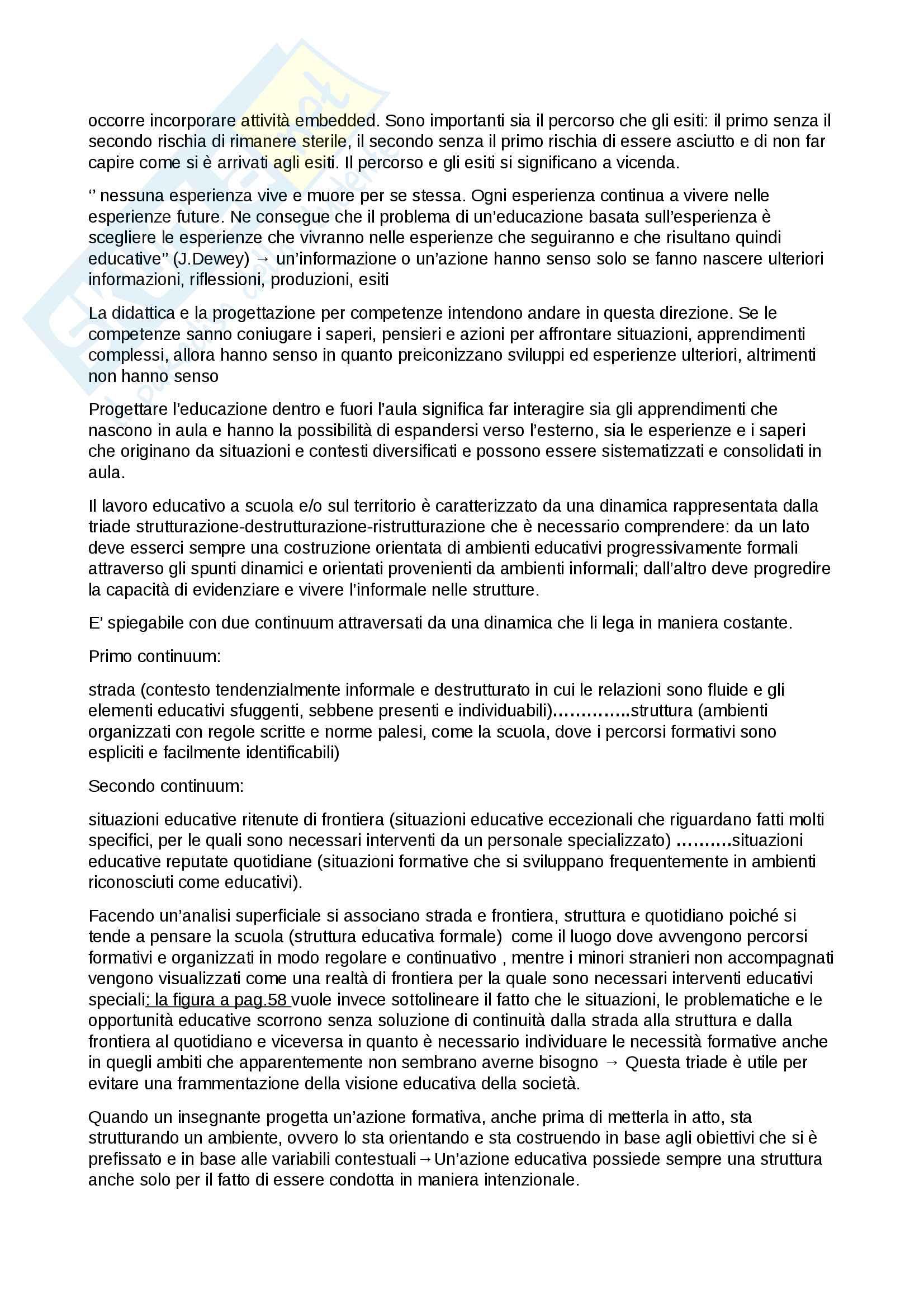 Riassunto per l'esame di valutazione e progettazione scolastica, prof. Parmigiani, libro consigliato L'aula scolastica 2 Pag. 6
