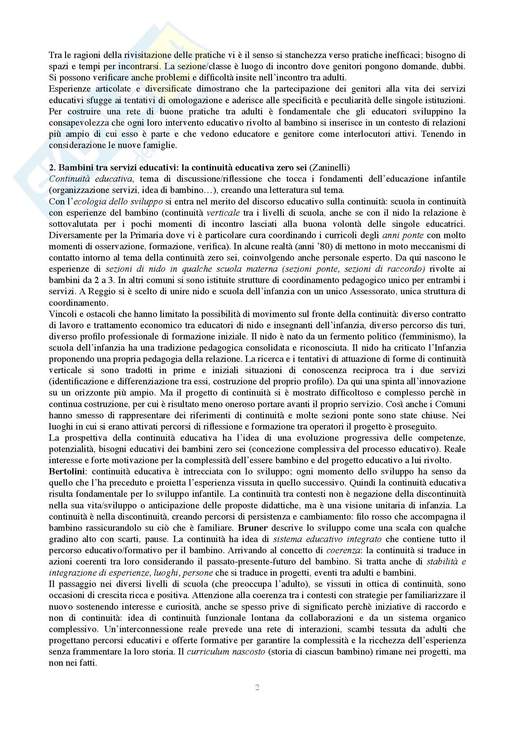 Riassunto esame Metodologia della ricerca, prof. Zaninelli, libro consigliato Pedagogia e infanzia Pag. 2