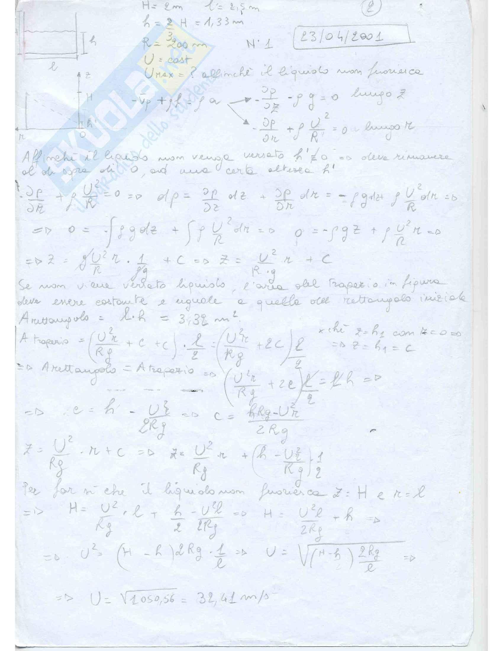 Fluidodinamica Esercizi Pag. 2