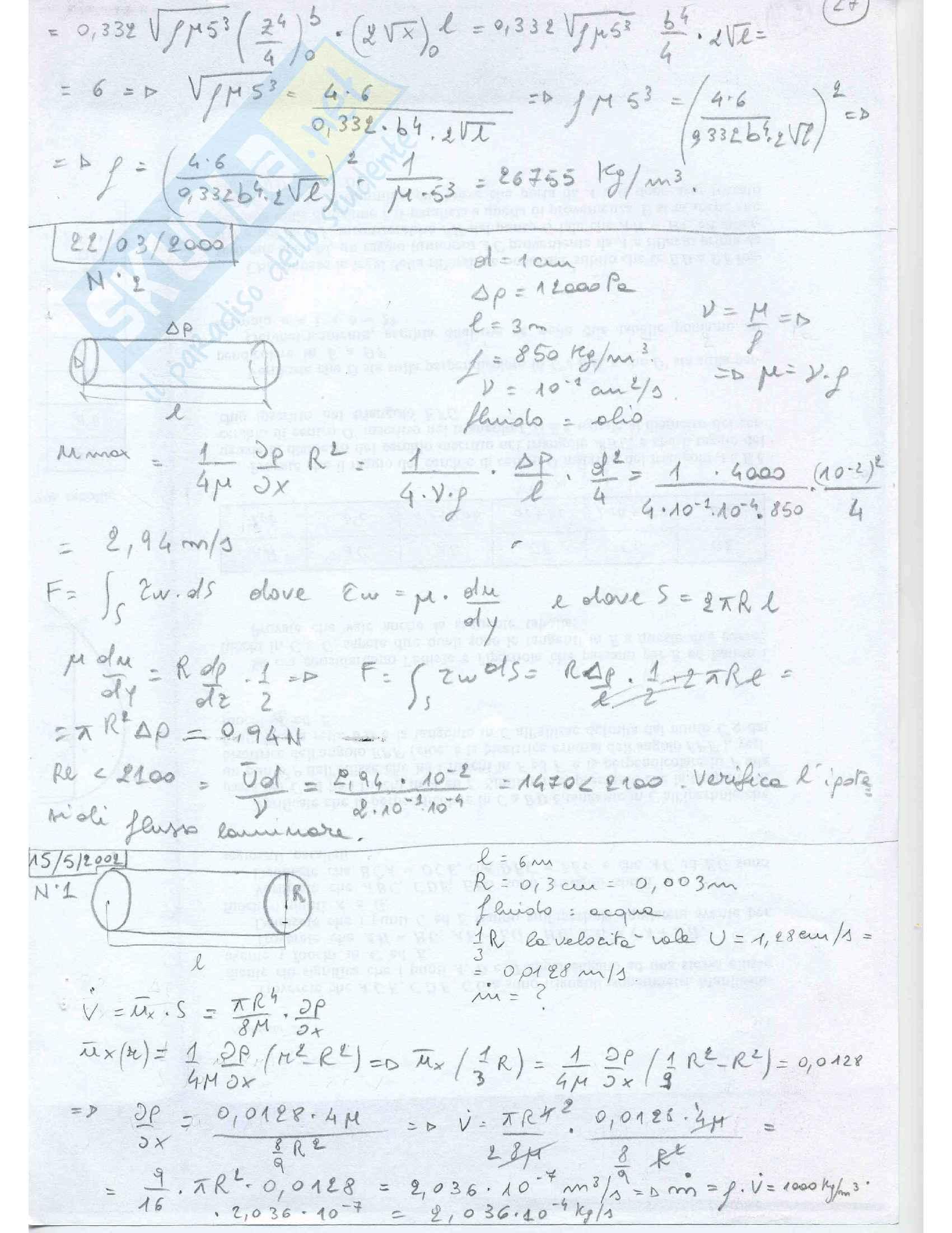 Fluidodinamica Esercizi Pag. 26