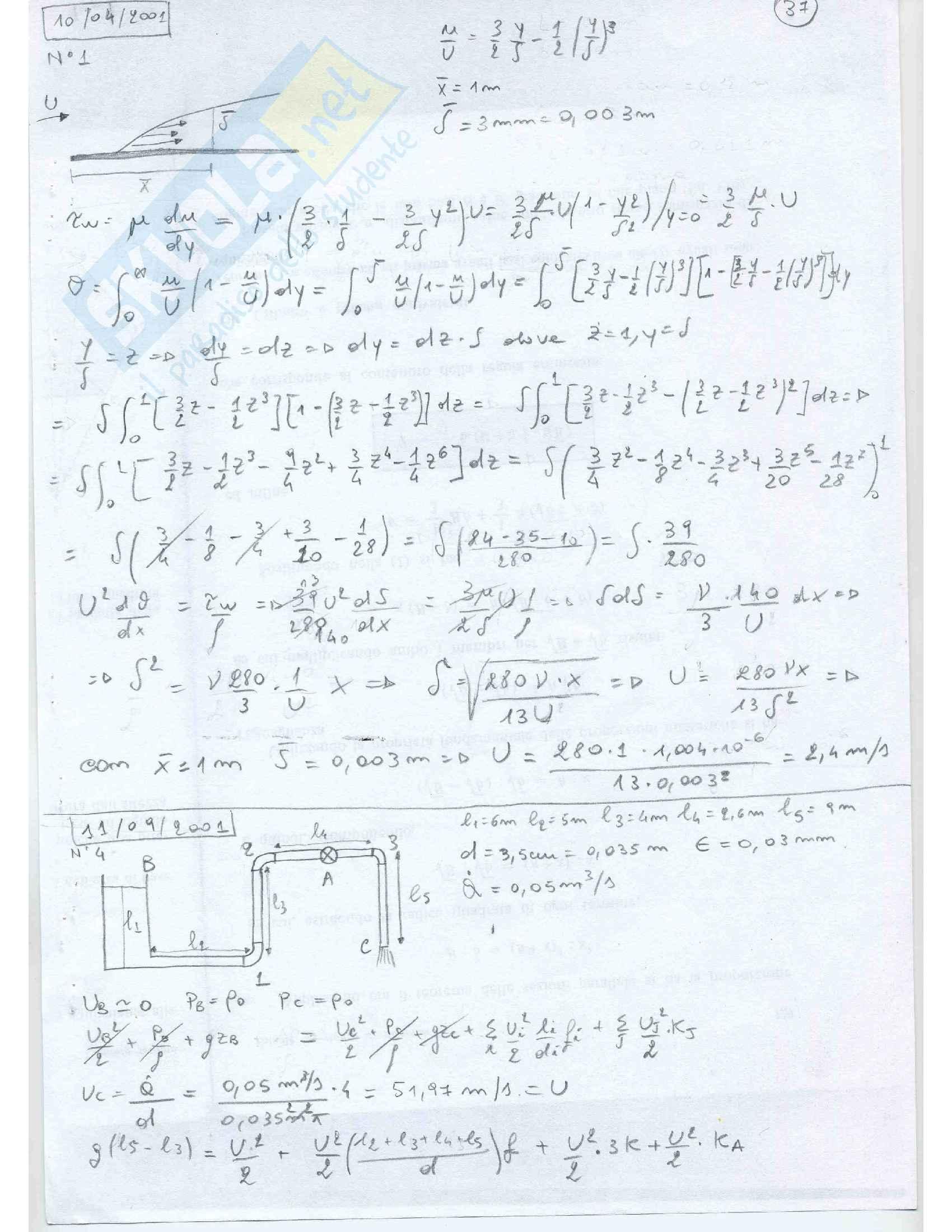 Fluidodinamica Esercizi Pag. 36