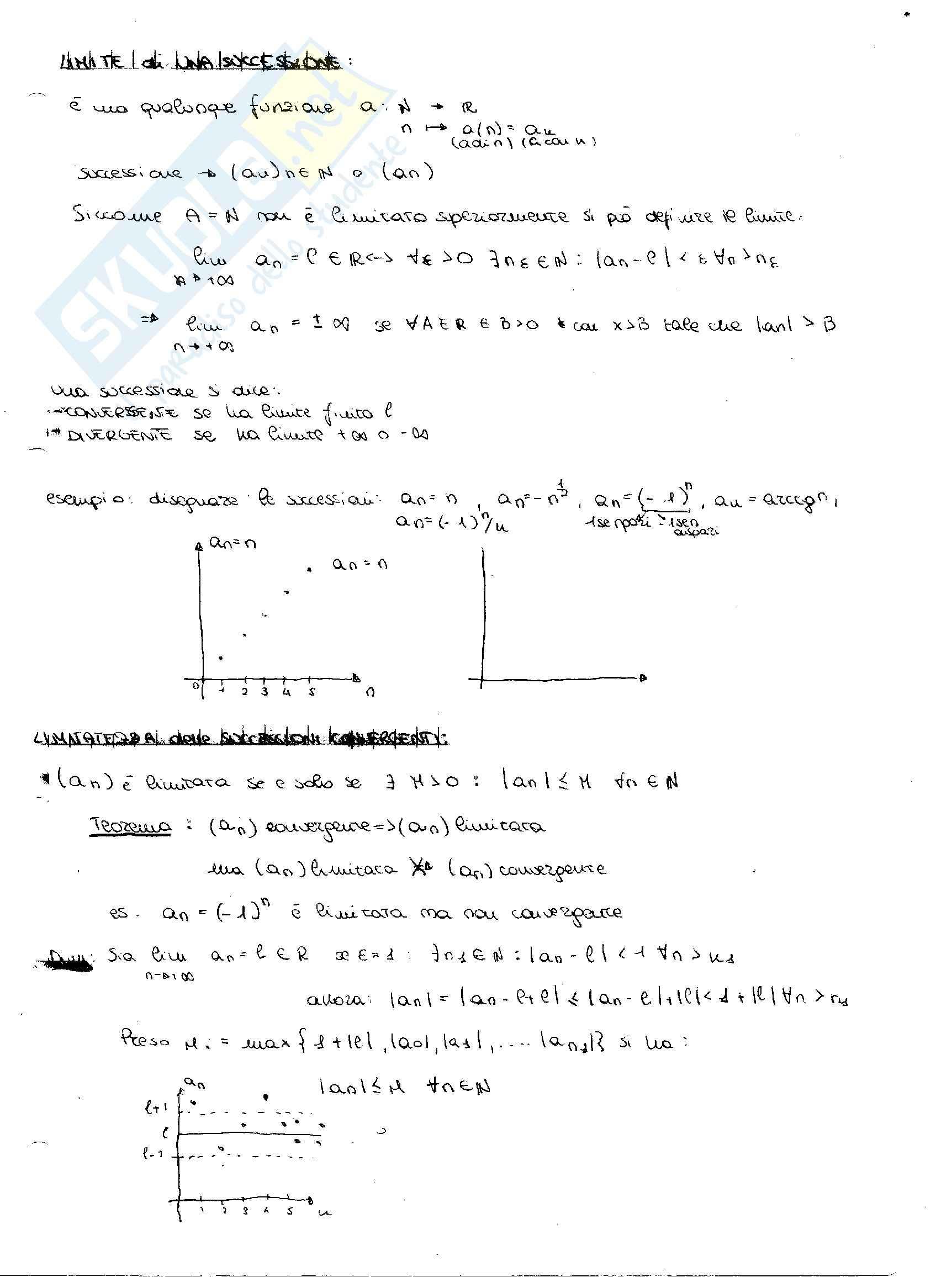 Principio di induzione e derivate: Appunti di Analisi matematica Pag. 16