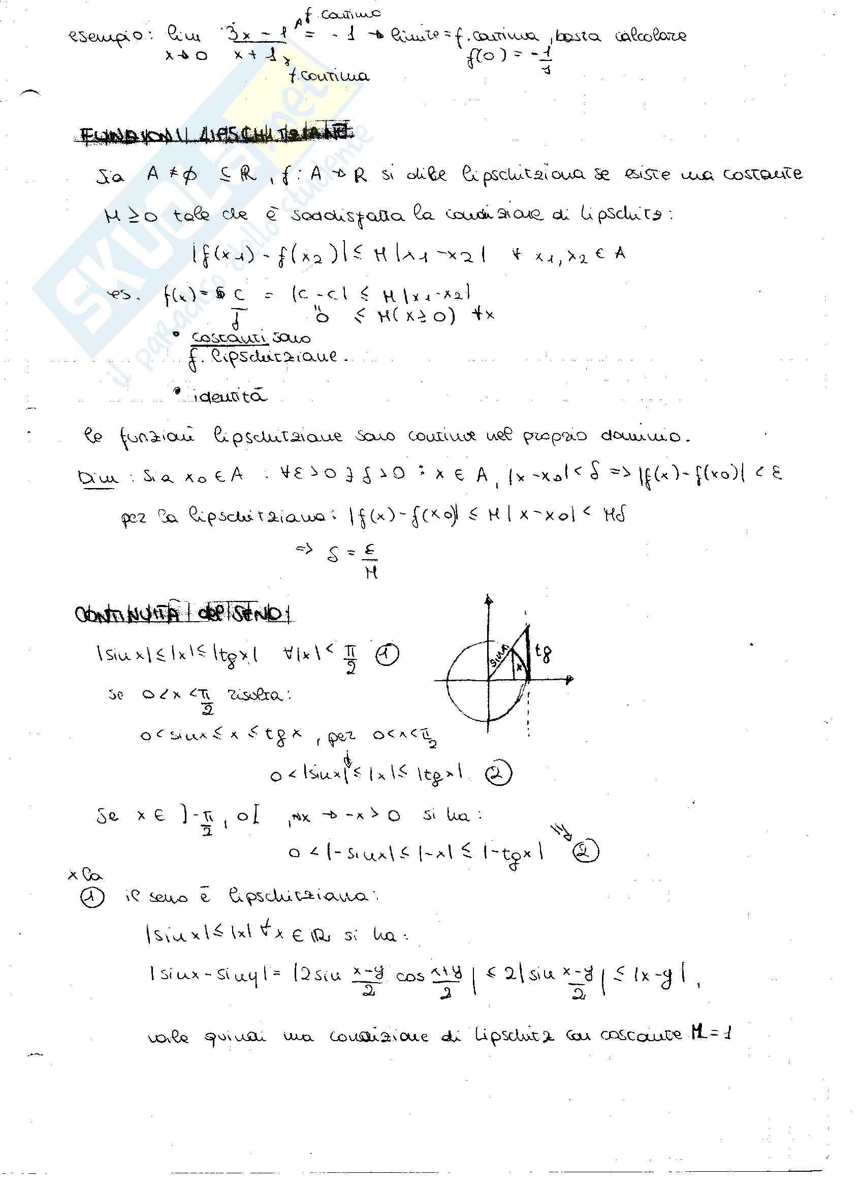 Principio di induzione e derivate: Appunti di Analisi matematica Pag. 21