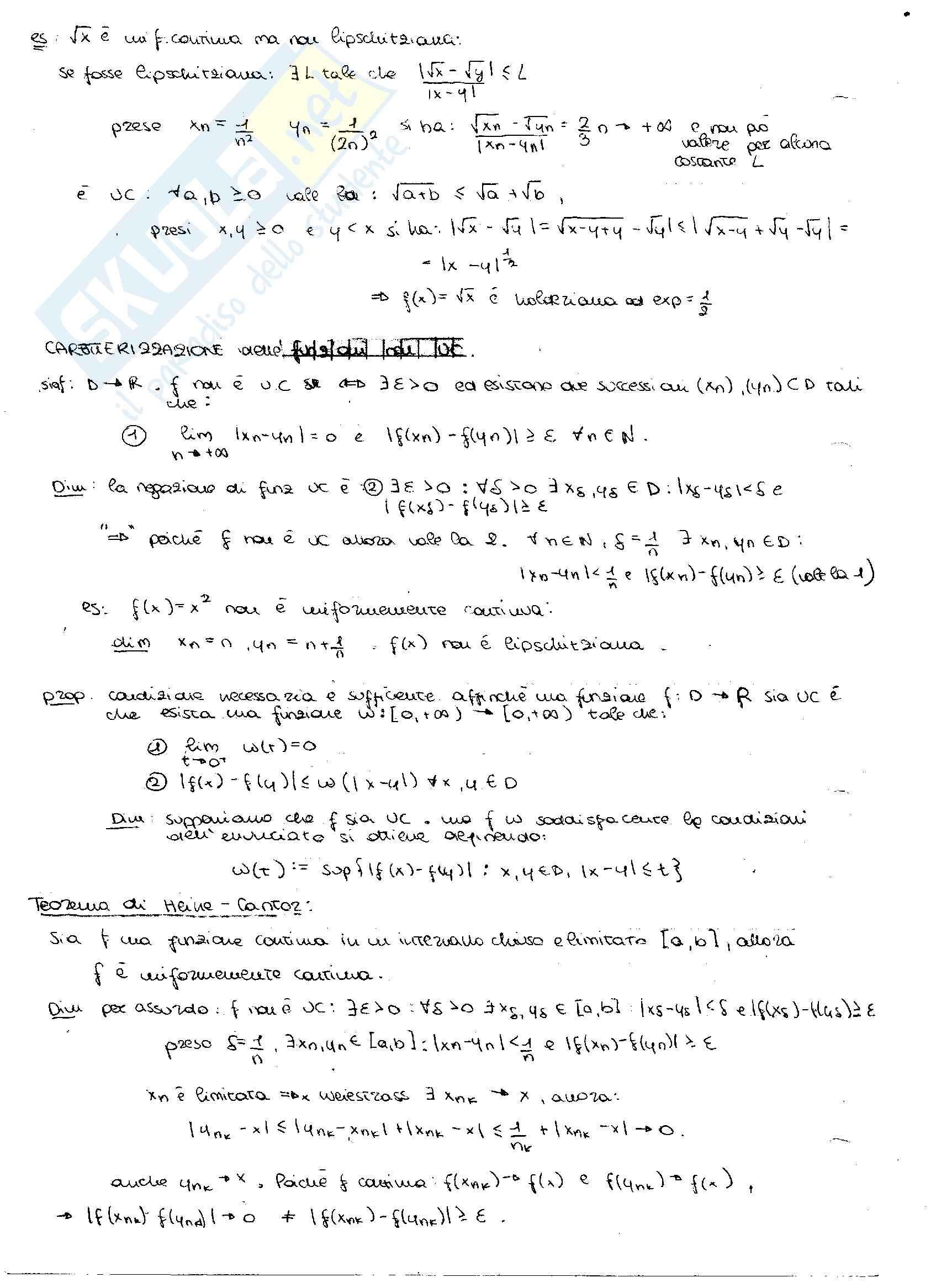 Principio di induzione e derivate: Appunti di Analisi matematica Pag. 36