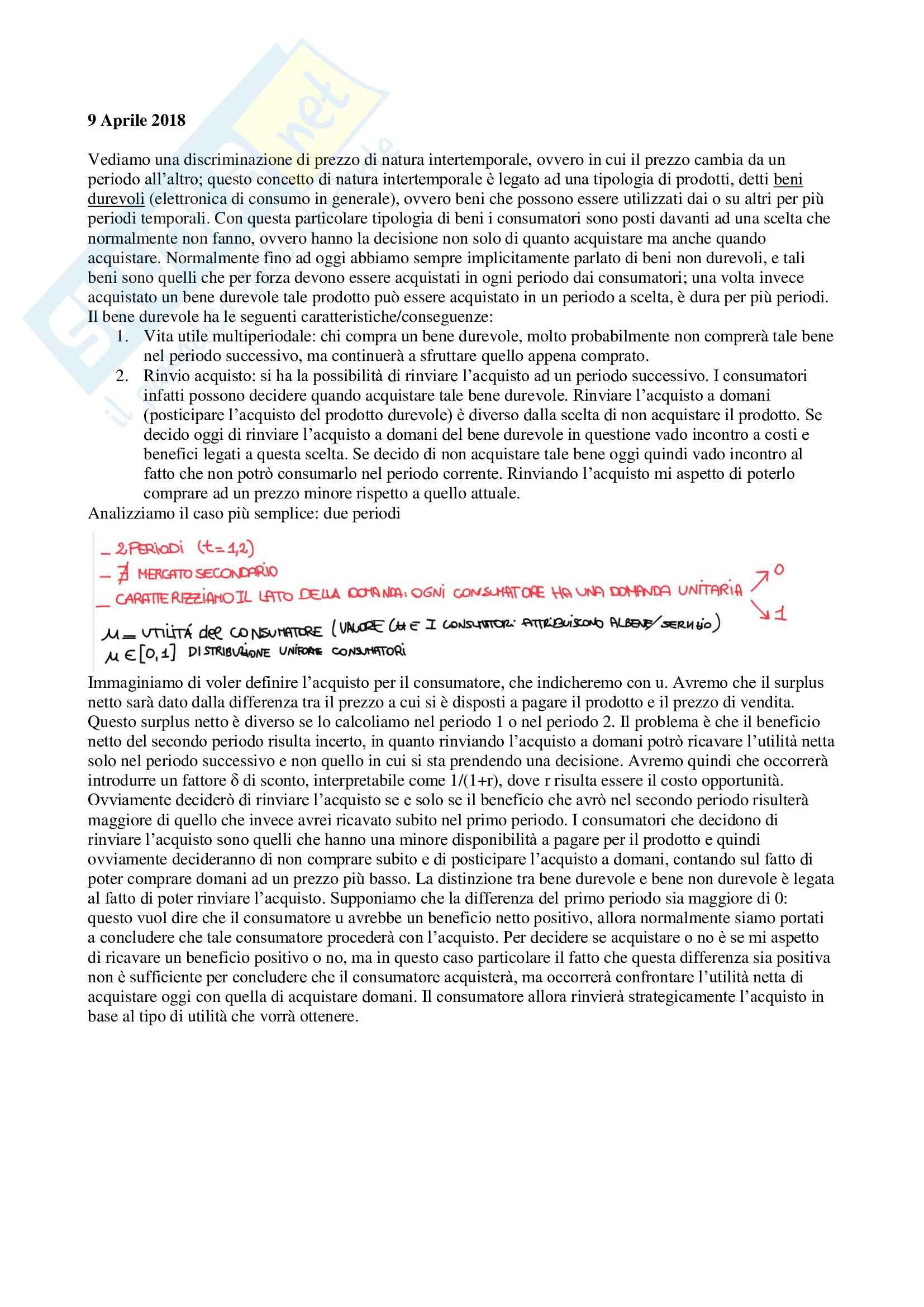 Appunti di Economia dei sistemi industriali, prof. Reverberi e Nastasi Pag. 31