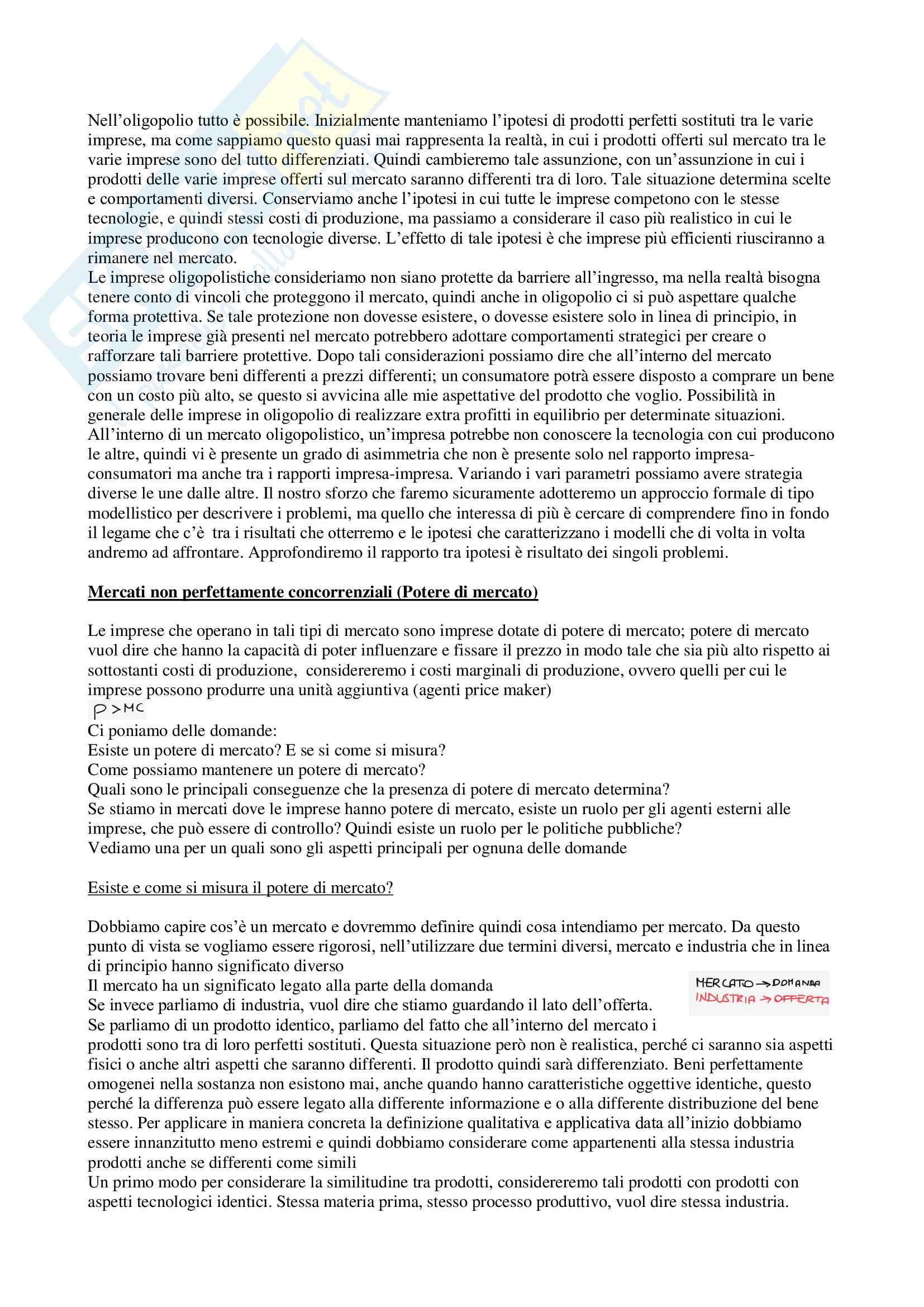 Appunti di Economia dei sistemi industriali, prof. Reverberi e Nastasi Pag. 6