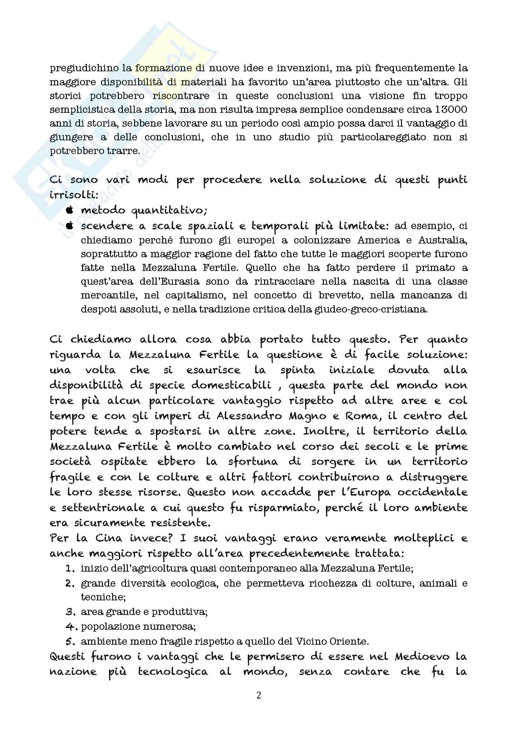 Riassunto esame Linguistica generale, prof. Longobardi, libro consigliato Armi, acciaio e malattie, Diamond (Epilogo) Pag. 2