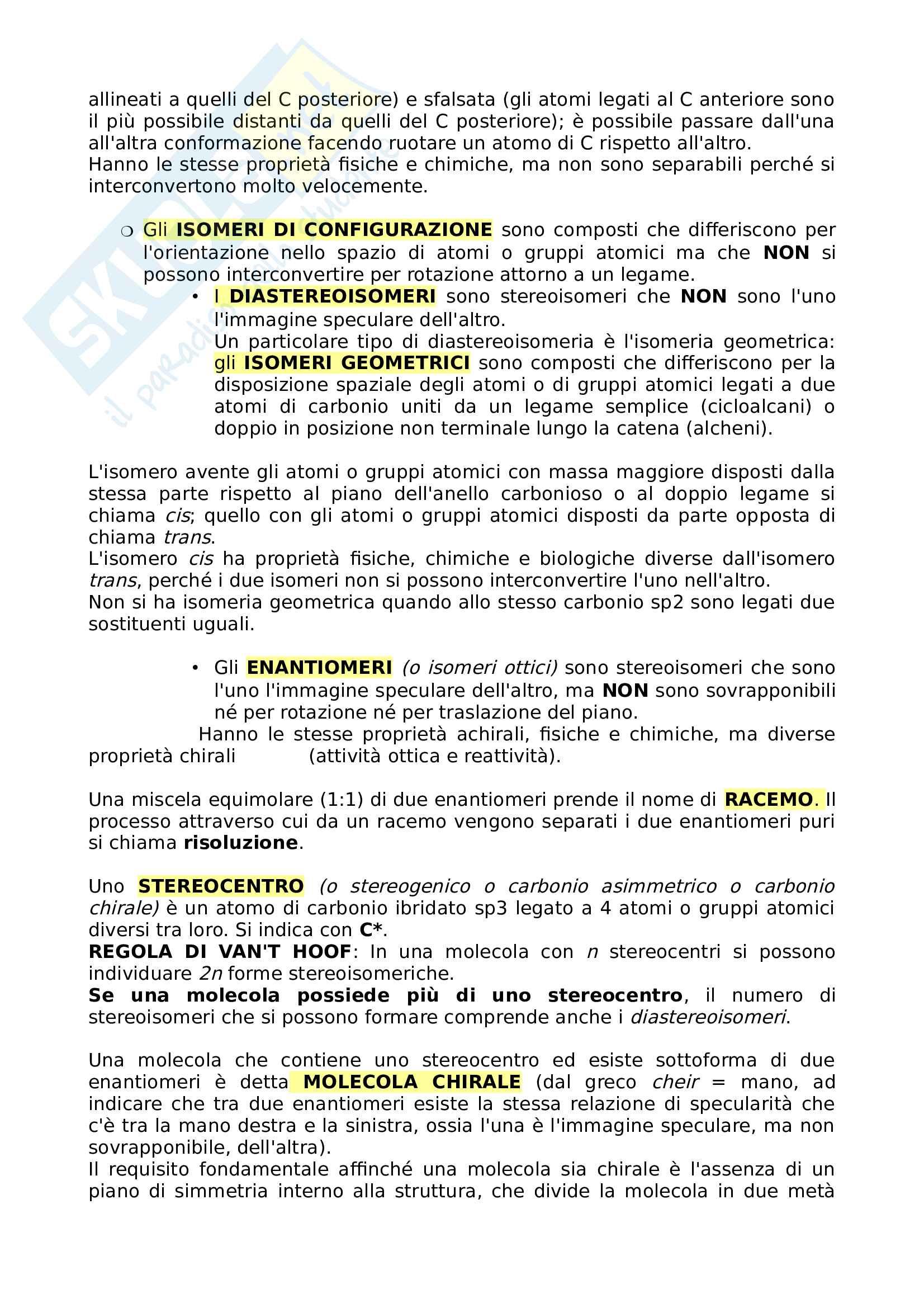 Appunti Chimica organica per il test di Medicina (parte I) Pag. 6