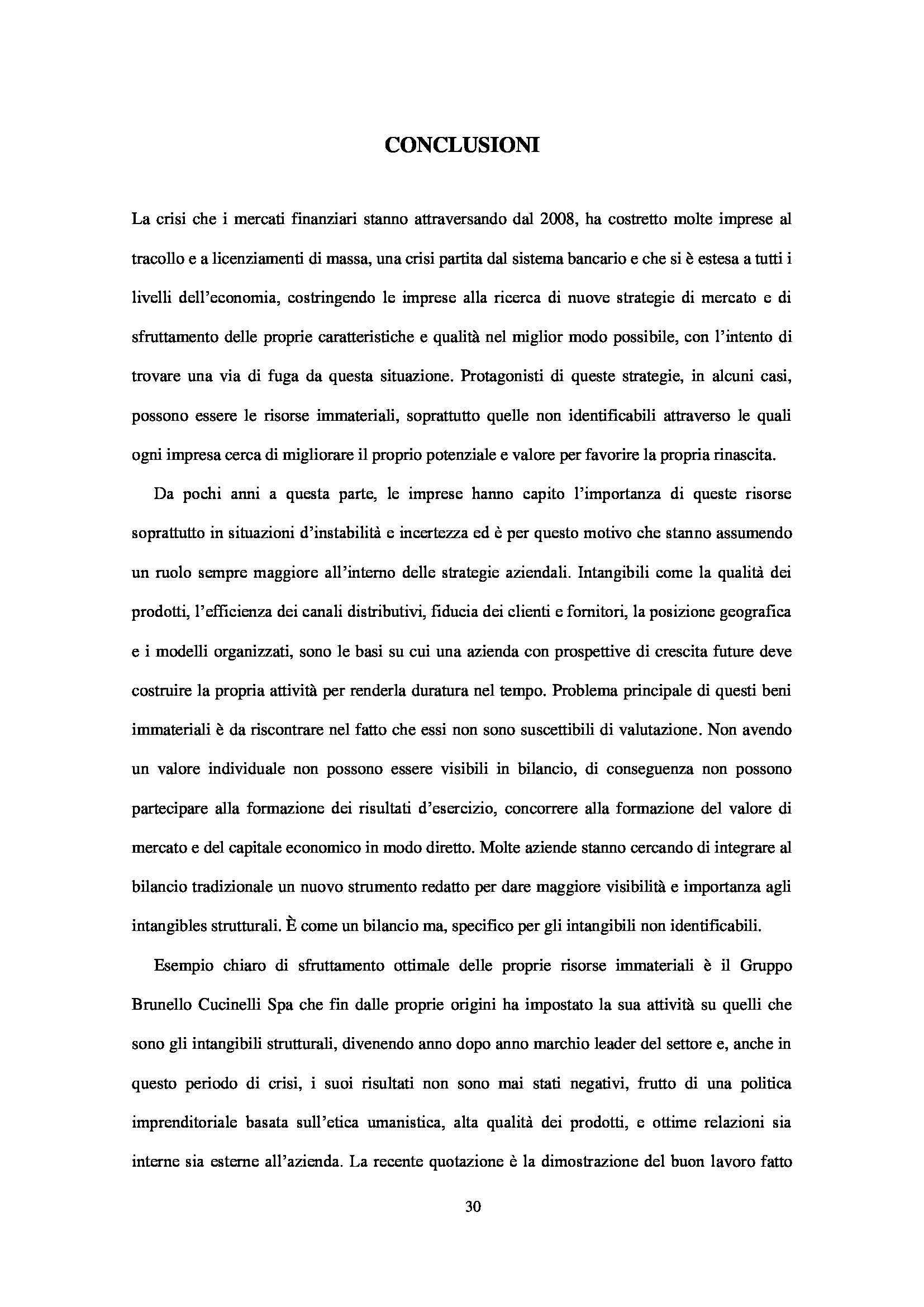 Tesi - L'importanza degli intangibles: il caso Brunello Cucinelli spa Pag. 31