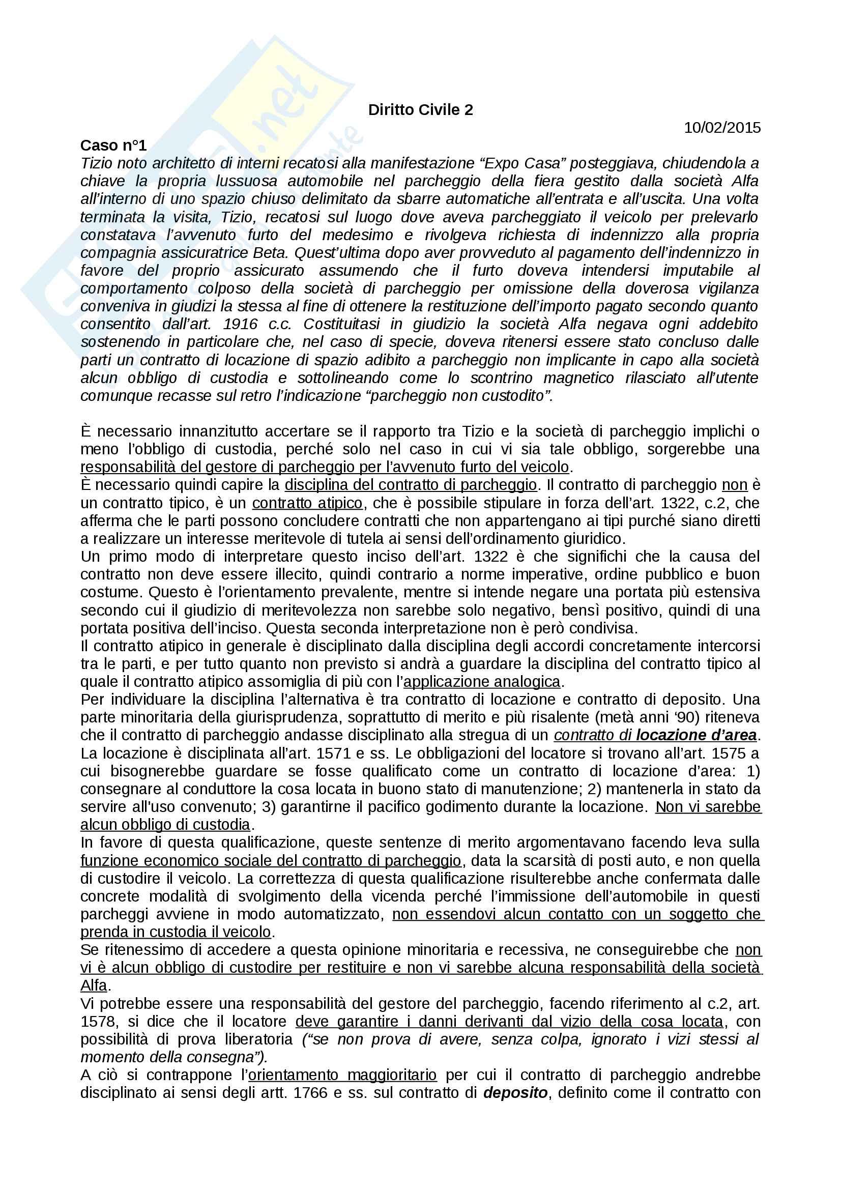 Appunti e casi di diritto civile 2