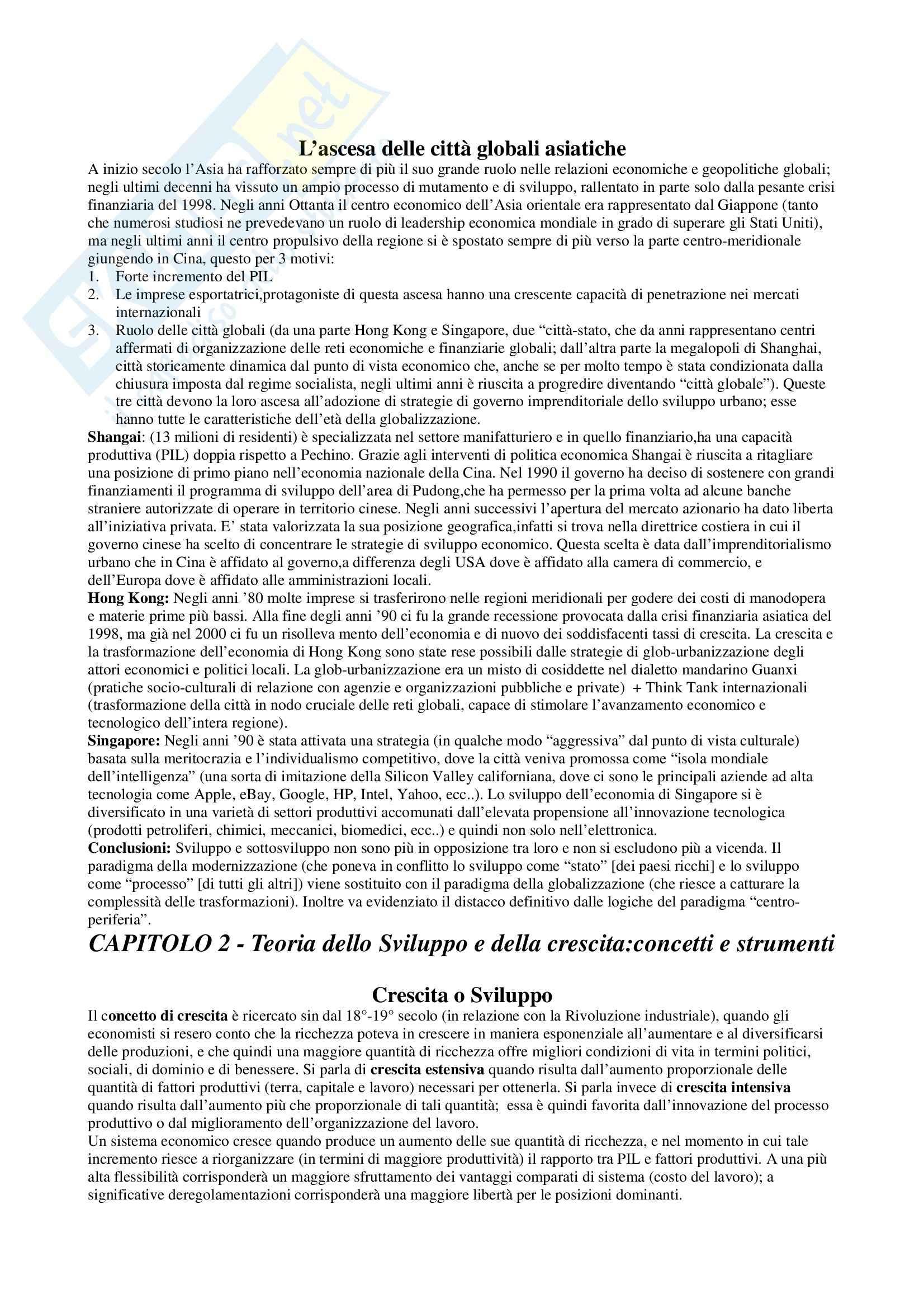 Riassunto esame Geografia dello Sviluppo, prof. Ghisalberti, libro consigliato Geografia dello Sviluppo Pag. 2