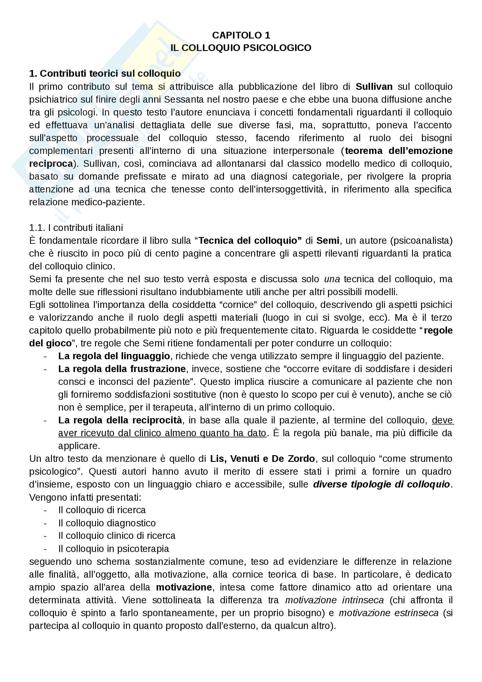 Modelli e tecniche del colloquio, Candelori Pag. 16