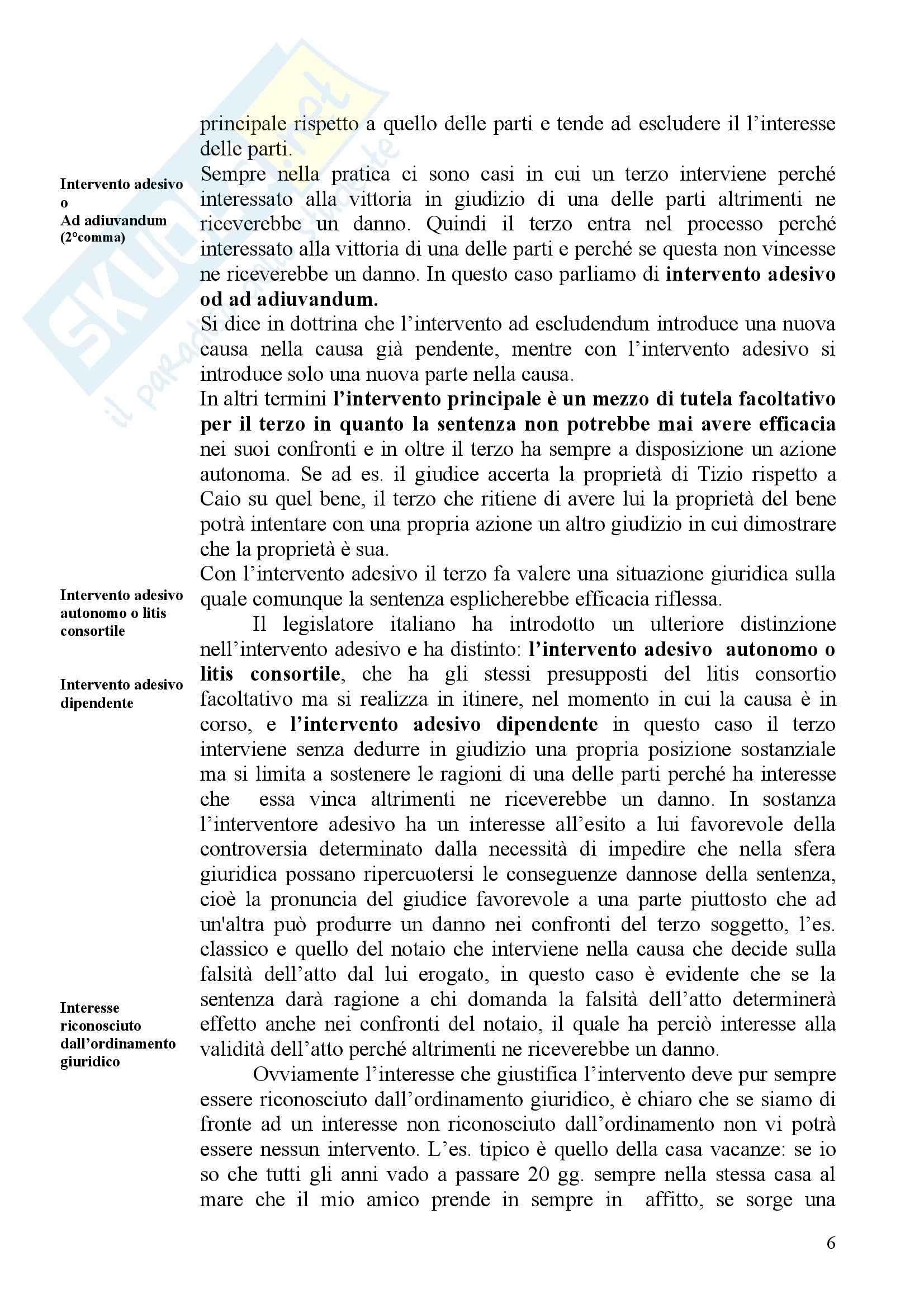 Diritto processuale civile - pluralità delle parti nel processo Pag. 6