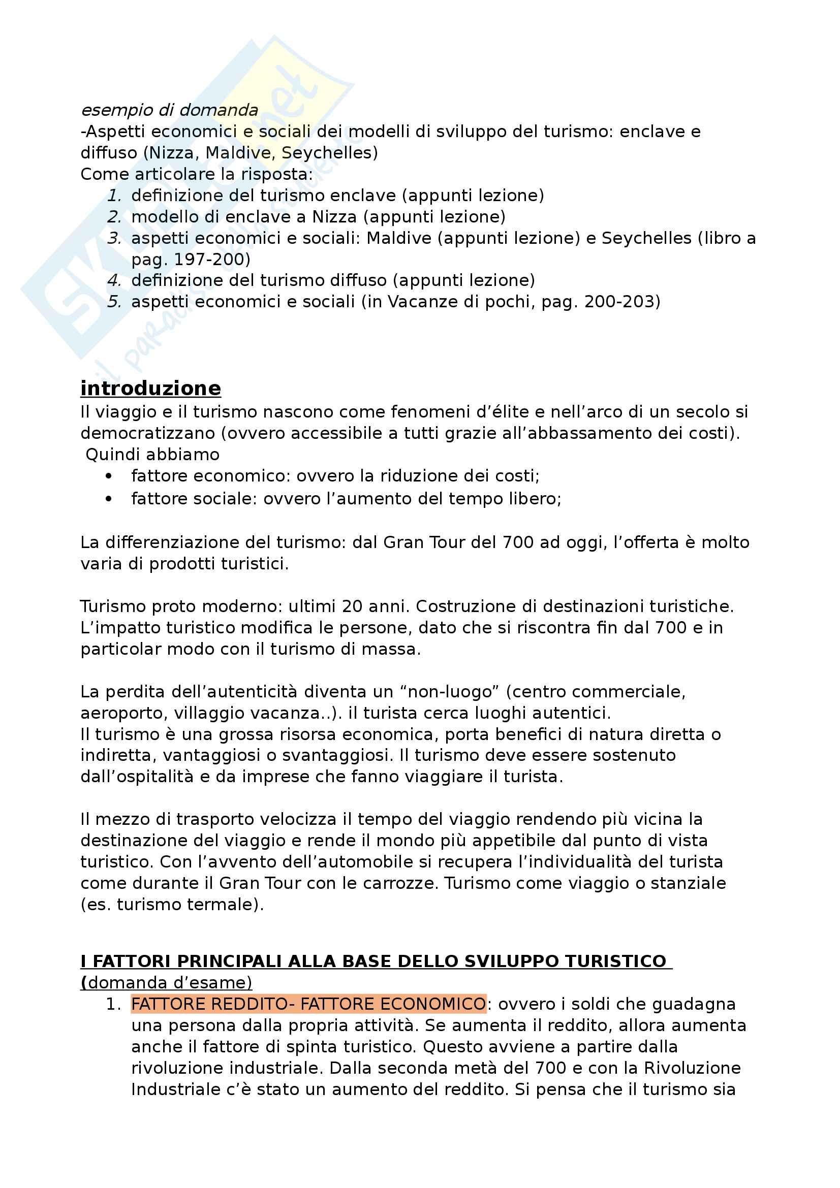 Sociologia economico turistica Pag. 2