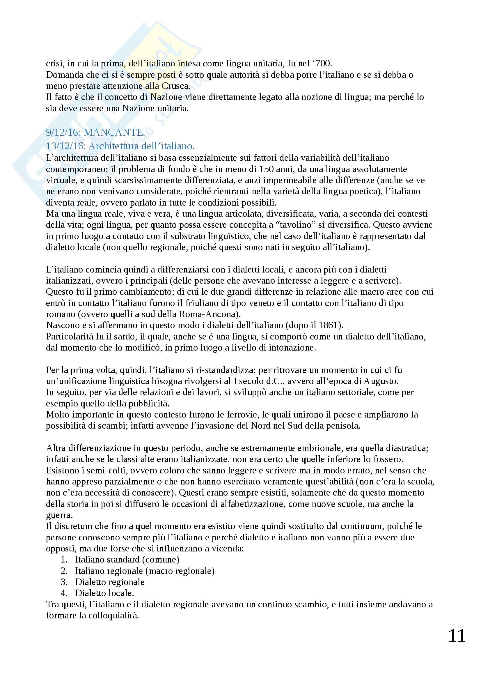 Appunti di Dialettologia Pag. 11