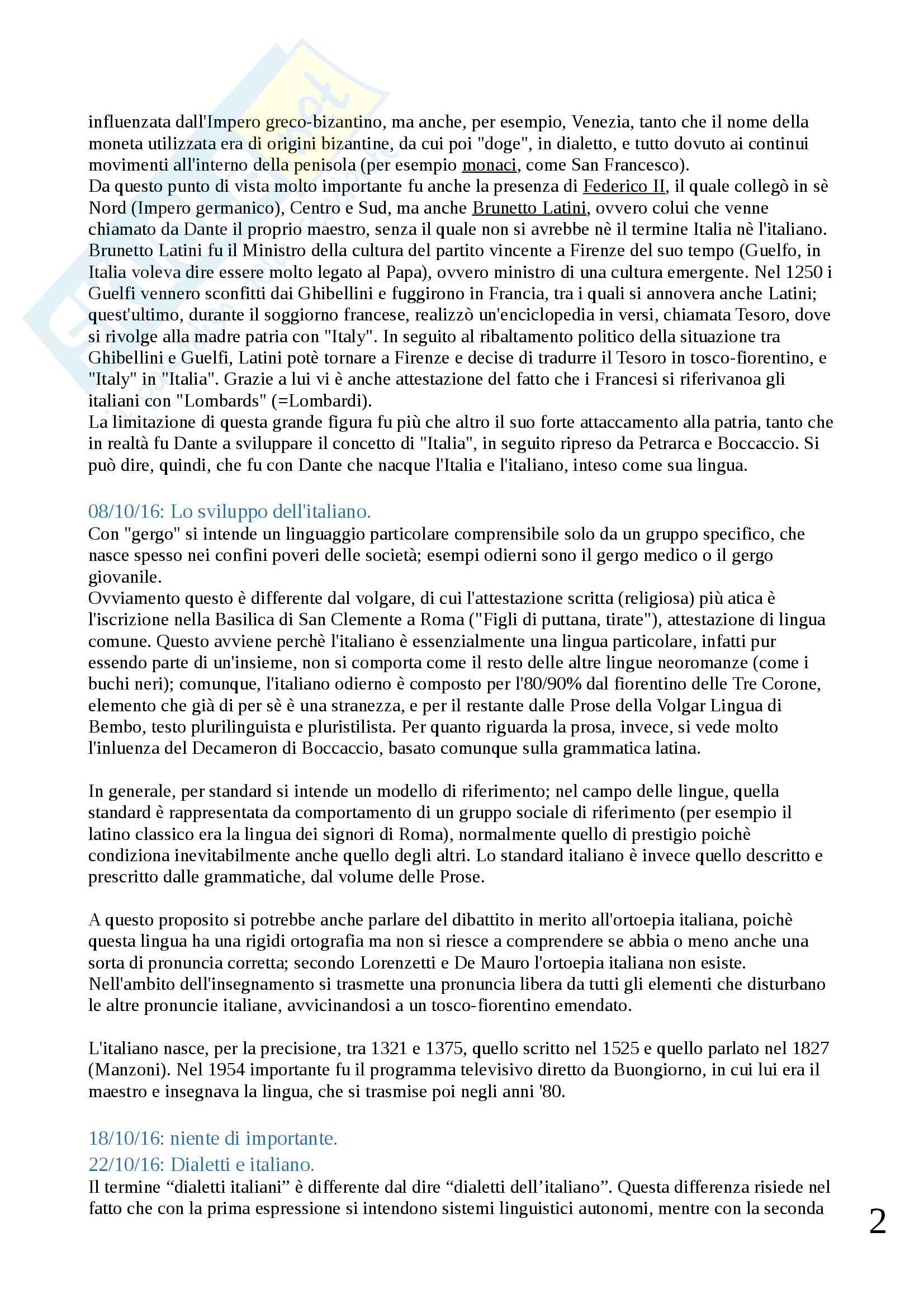 Appunti di Dialettologia Pag. 2