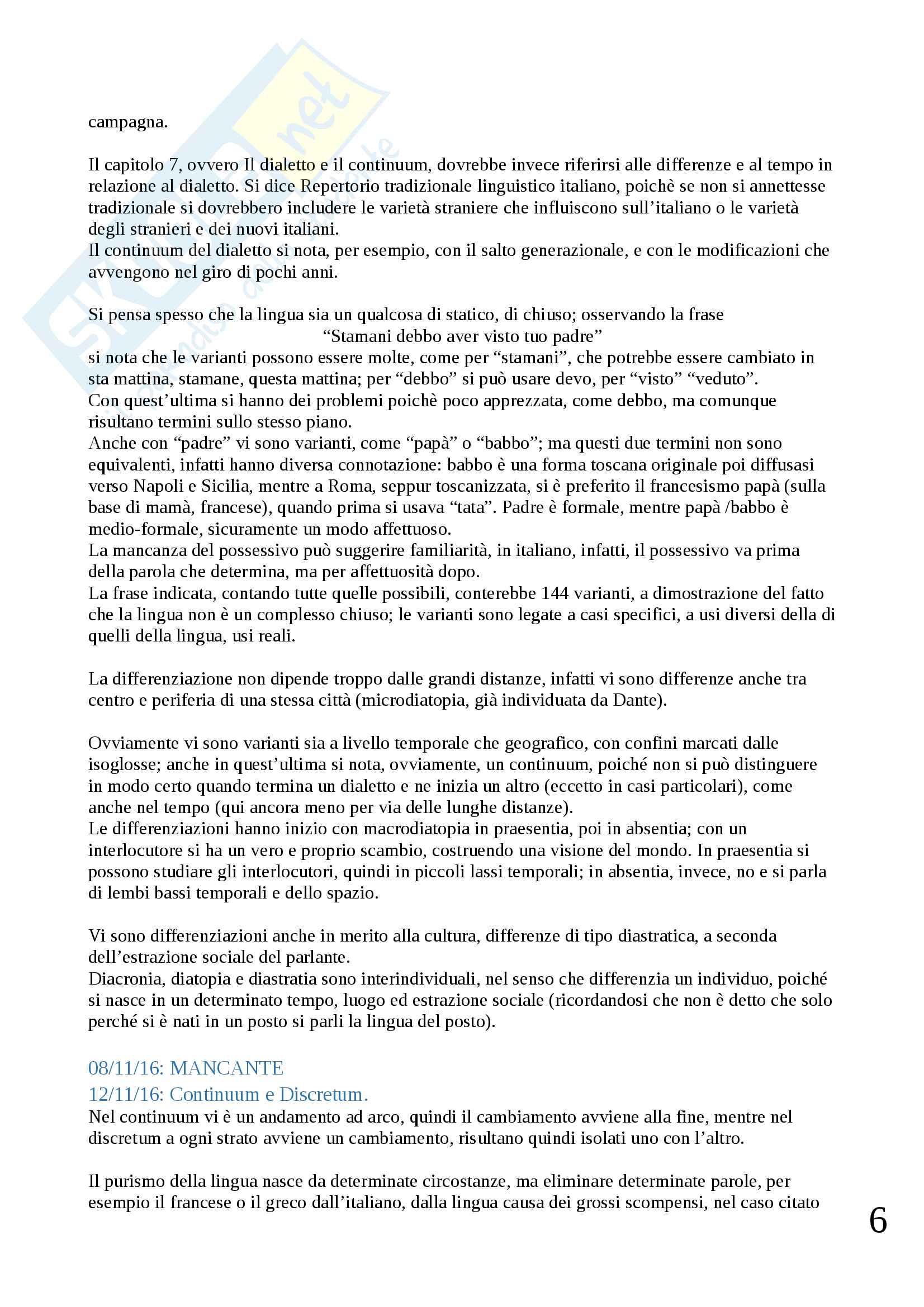Appunti di Dialettologia Pag. 6