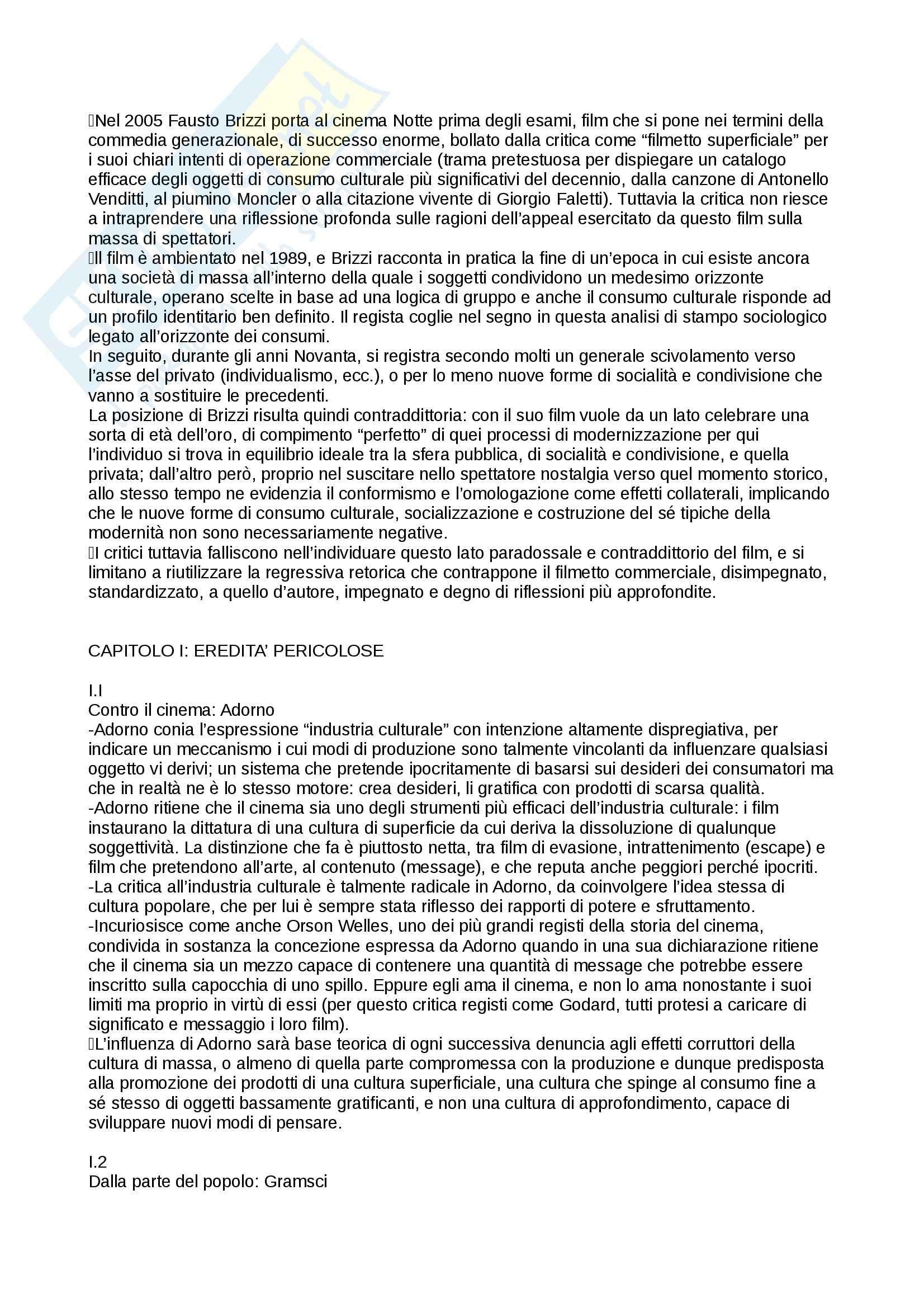 Riassunto esame storia del cinema italiano, prof. Manzoli, libro consigliato Da Ercole a Fantozzi, Cinema popolare e società italiana dal boom economico alla neotelevisione (1958-1976), Manzoli Pag. 2