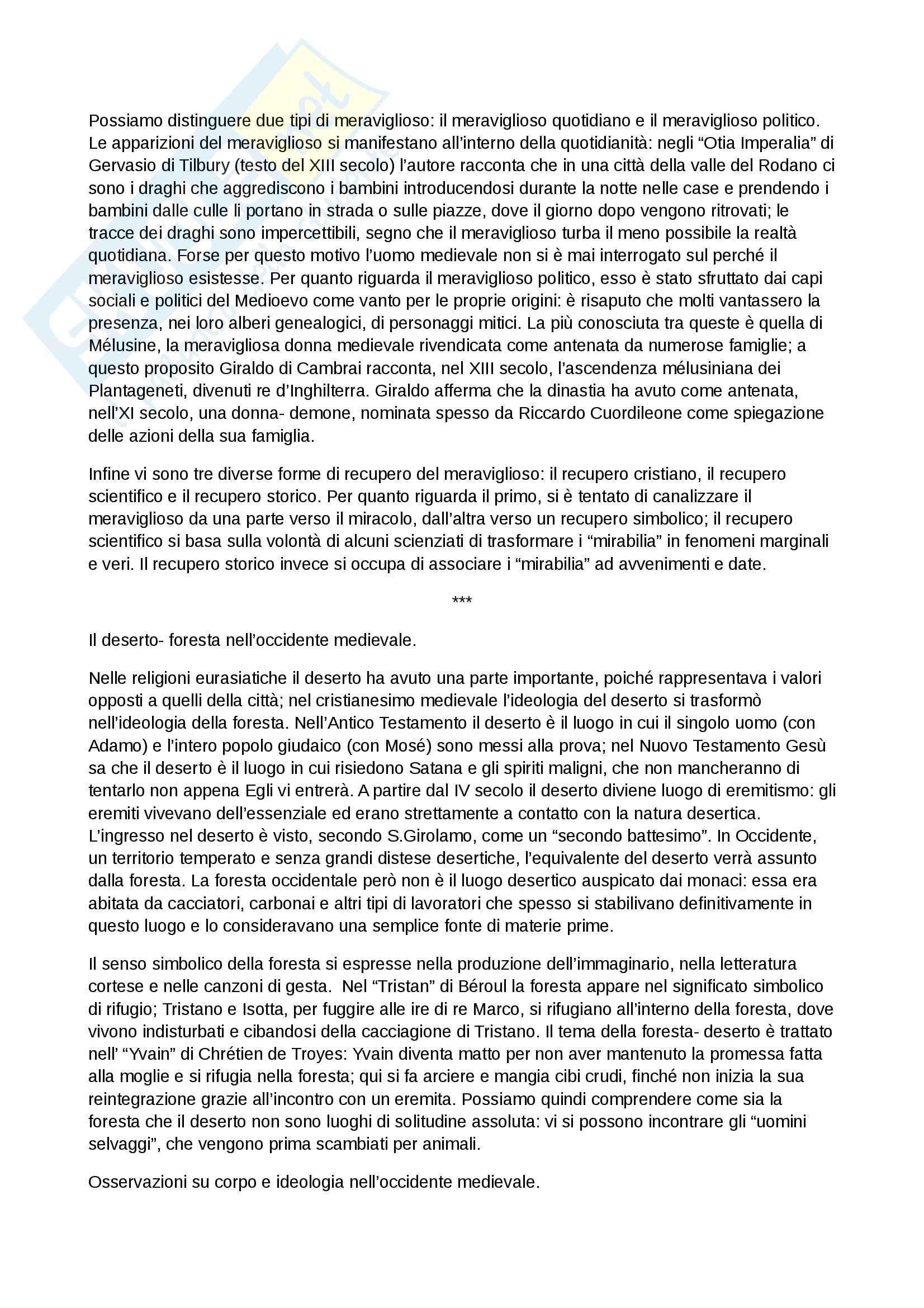 Riassunto esame Antichità e Istituzioni medievali, prof. Capo, libro consigliato Il meraviglioso e il quotidiano nell Occidente medievale, Le Goff Pag. 2