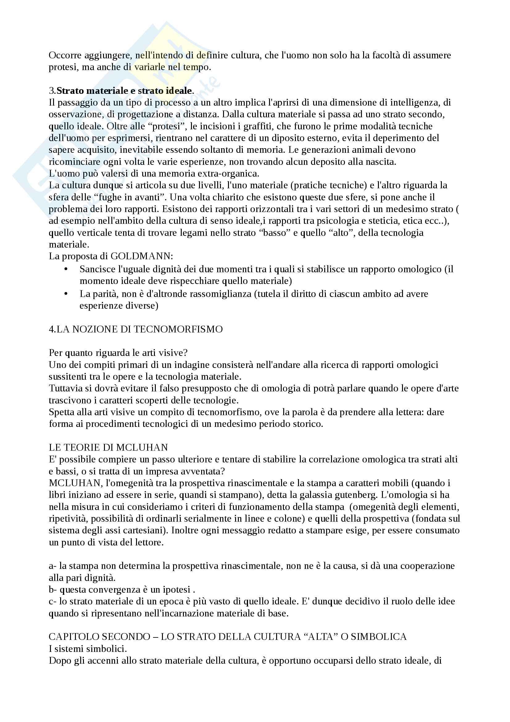 Riassunto esame di fenomenologia degli stili, Prof Tunisini, libro consigliato Barilli, Scienza della cultura e fenomenologia degli stili Pag. 2