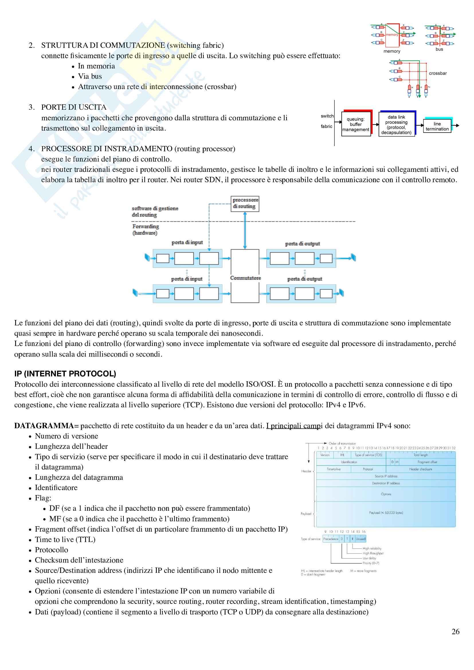 "Riassunto esame ""Reti e sistemi informativi"", prof. Cortesi Pag. 26"