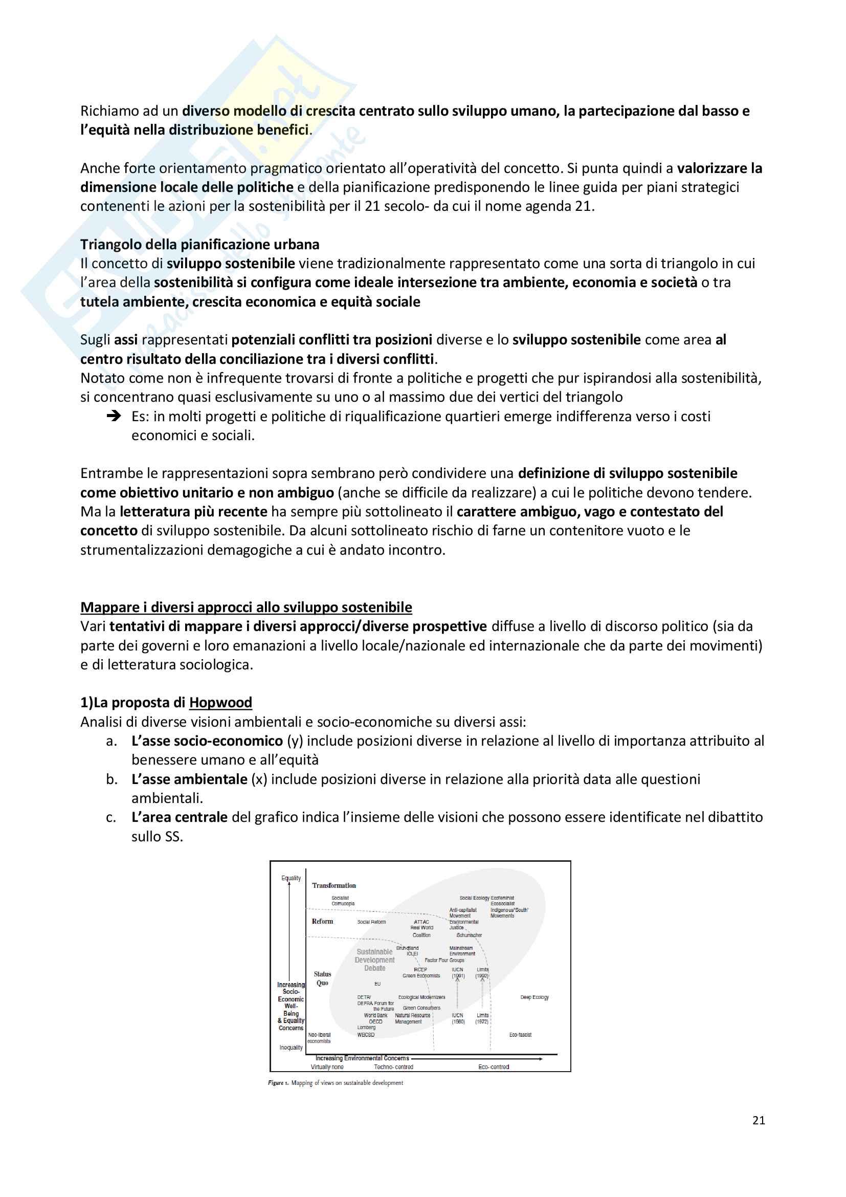 Appunti, Sociologia del territorio progredito Pag. 21