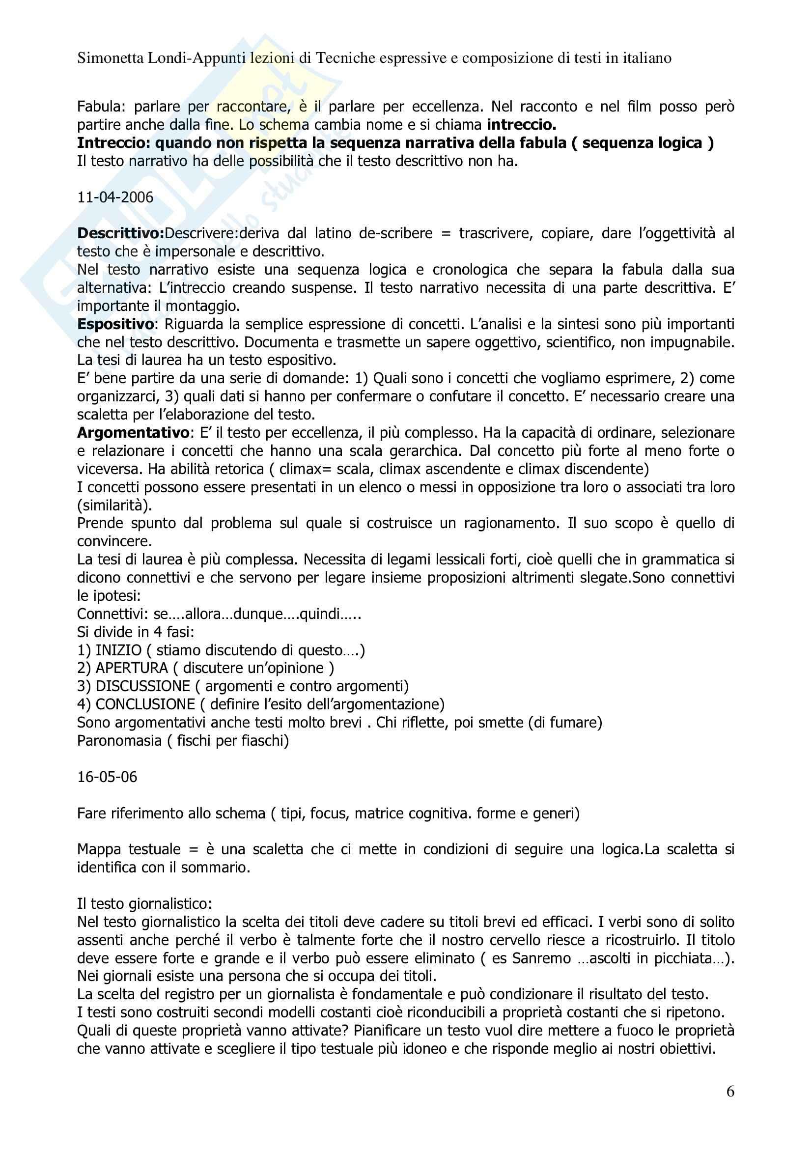 Tecniche espressive - sunto, prof. Bonvecchio Pag. 6
