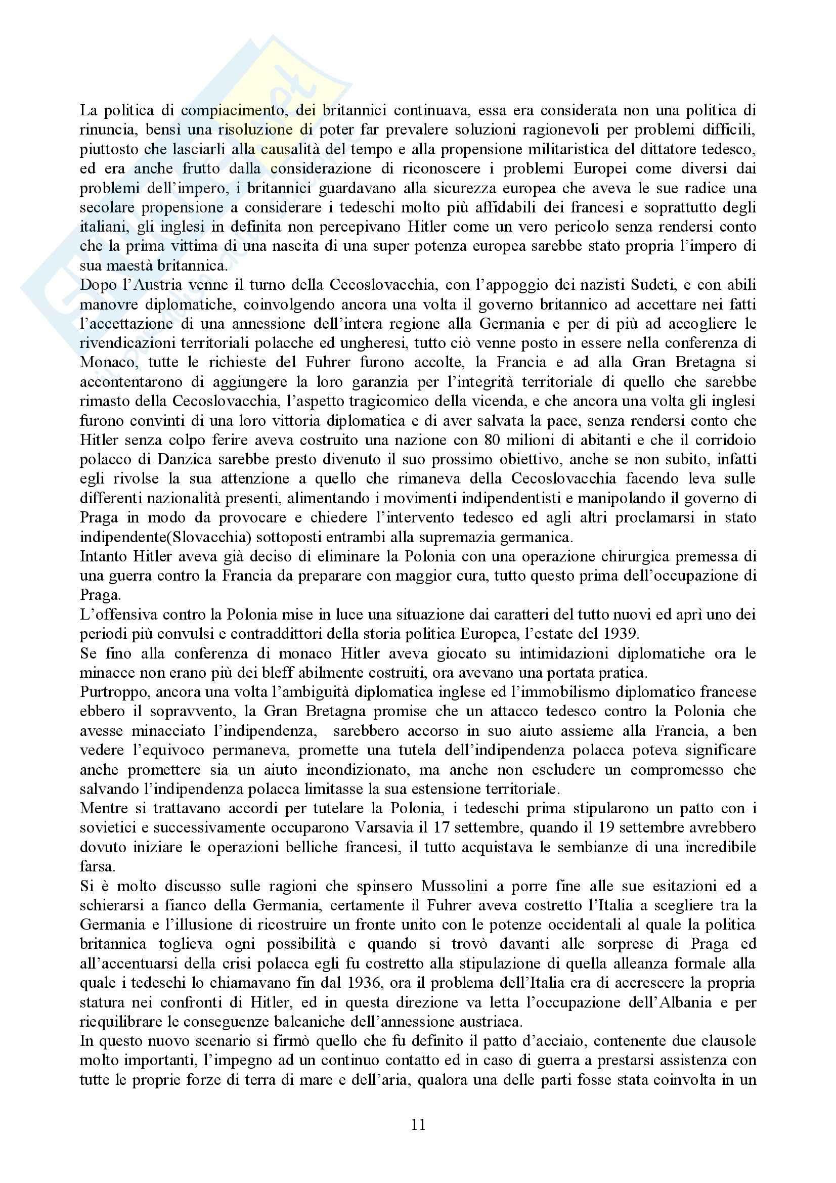 Riassunto esame Storia delle Relazioni Internazionali, prof. indefinito, libro consigliato Storia delle Relazioni Internazionali, Di Nolfo Pag. 11