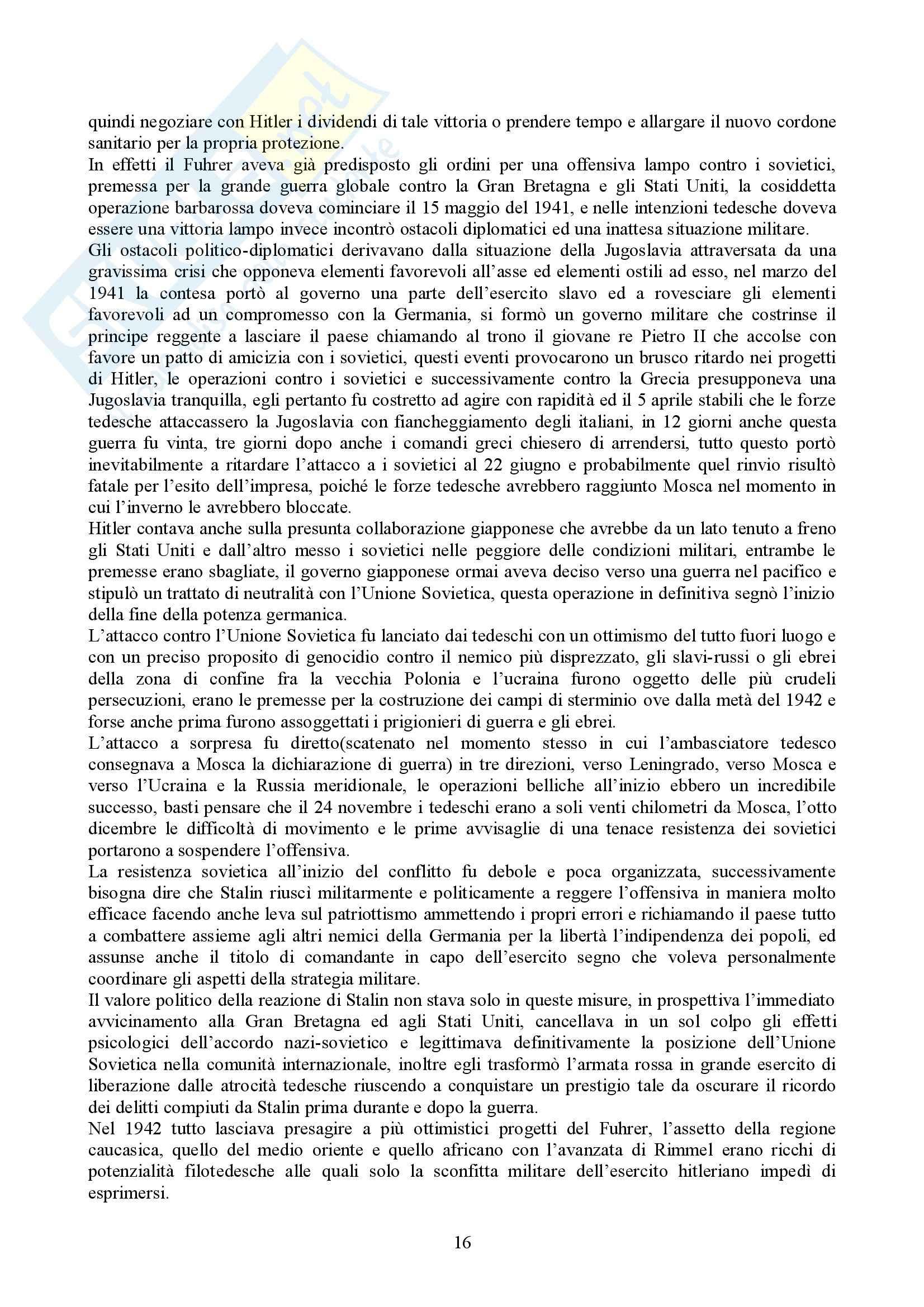Riassunto esame Storia delle Relazioni Internazionali, prof. indefinito, libro consigliato Storia delle Relazioni Internazionali, Di Nolfo Pag. 16
