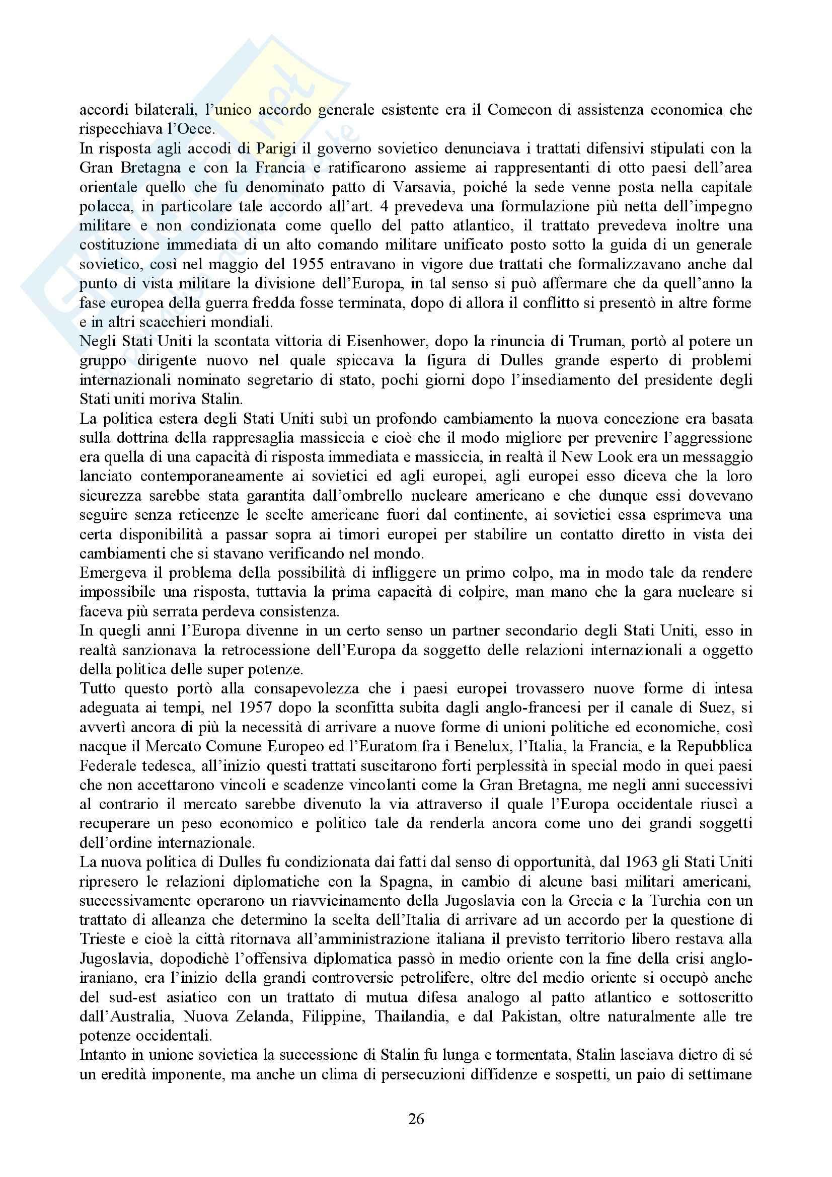 Riassunto esame Storia delle Relazioni Internazionali, prof. indefinito, libro consigliato Storia delle Relazioni Internazionali, Di Nolfo Pag. 26