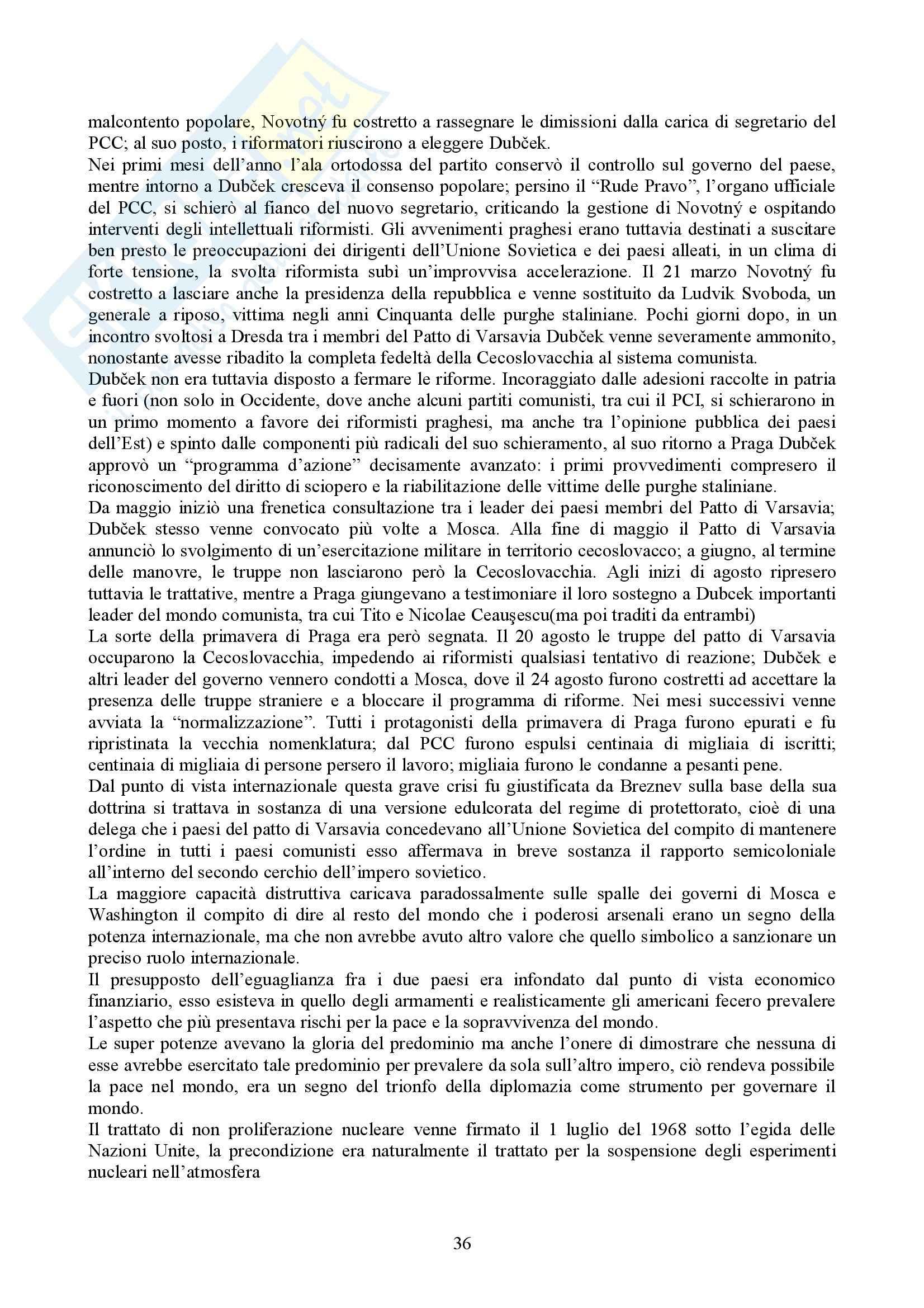 Riassunto esame Storia delle Relazioni Internazionali, prof. indefinito, libro consigliato Storia delle Relazioni Internazionali, Di Nolfo Pag. 36