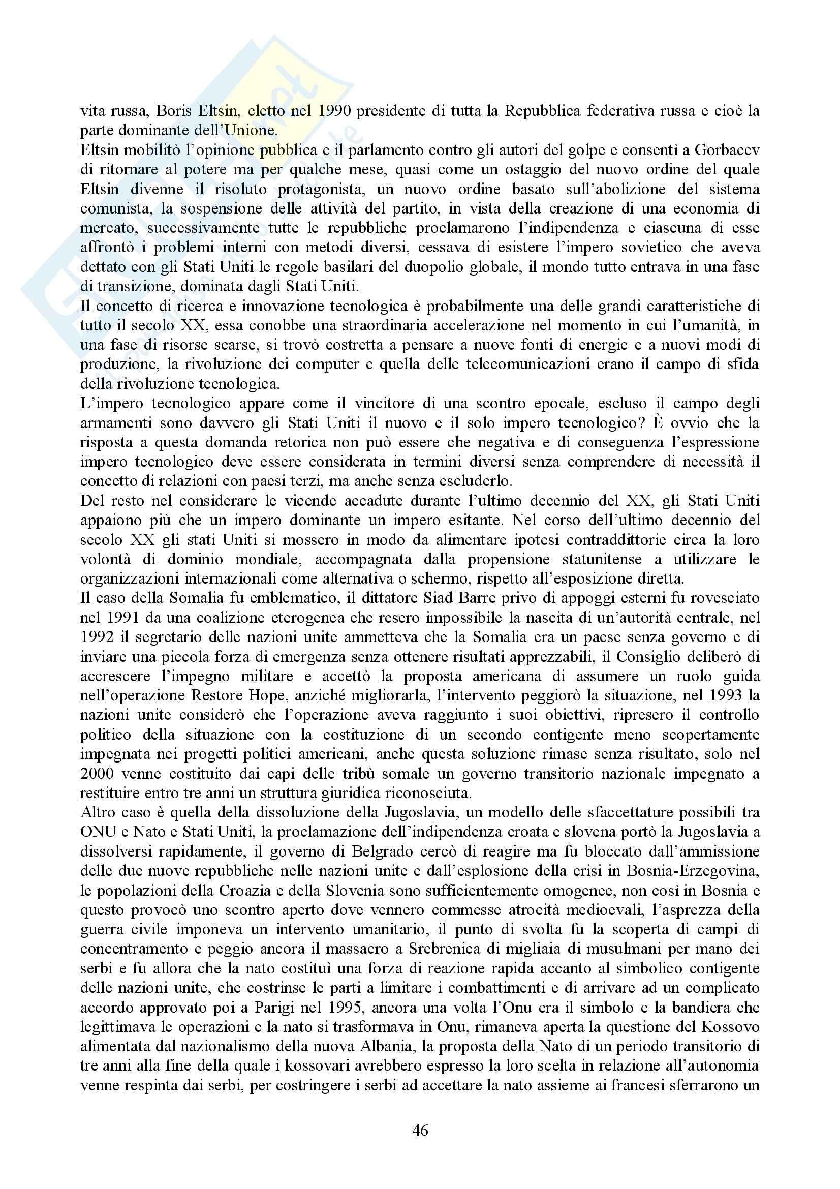 Riassunto esame Storia delle Relazioni Internazionali, prof. indefinito, libro consigliato Storia delle Relazioni Internazionali, Di Nolfo Pag. 46