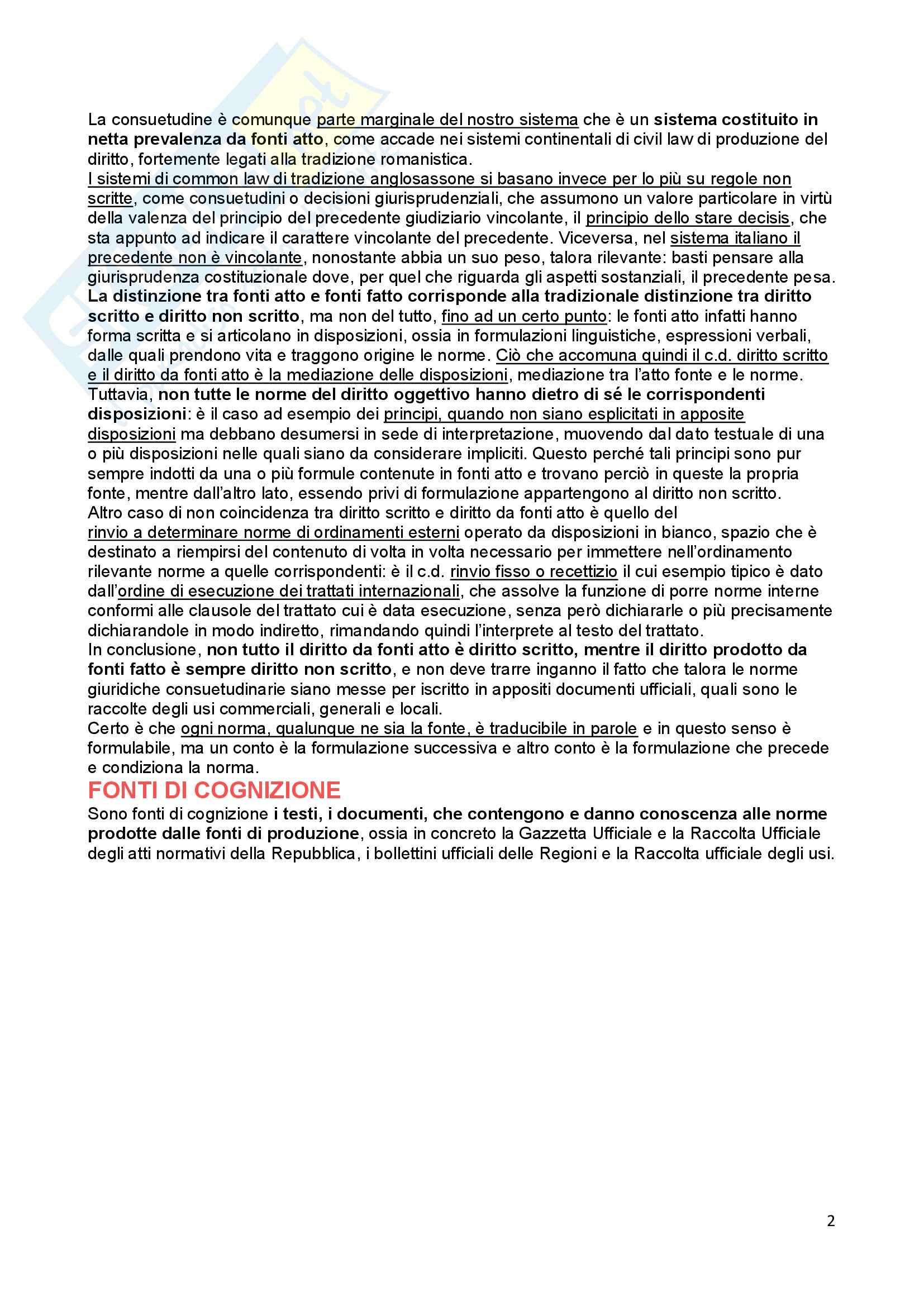 Diritto costituzionale - Le Fonti Pag. 2