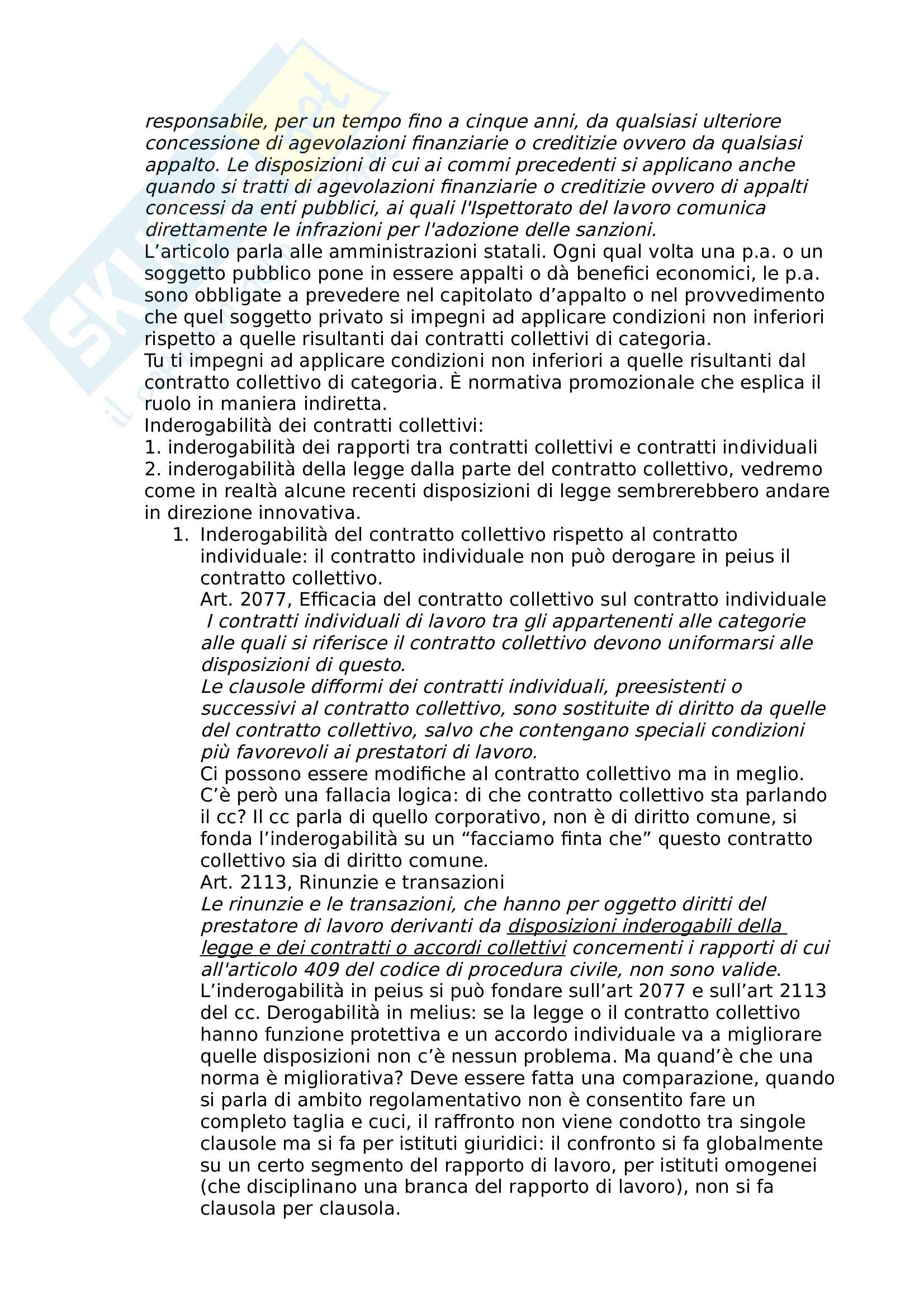 Diritto sindacale Pag. 16